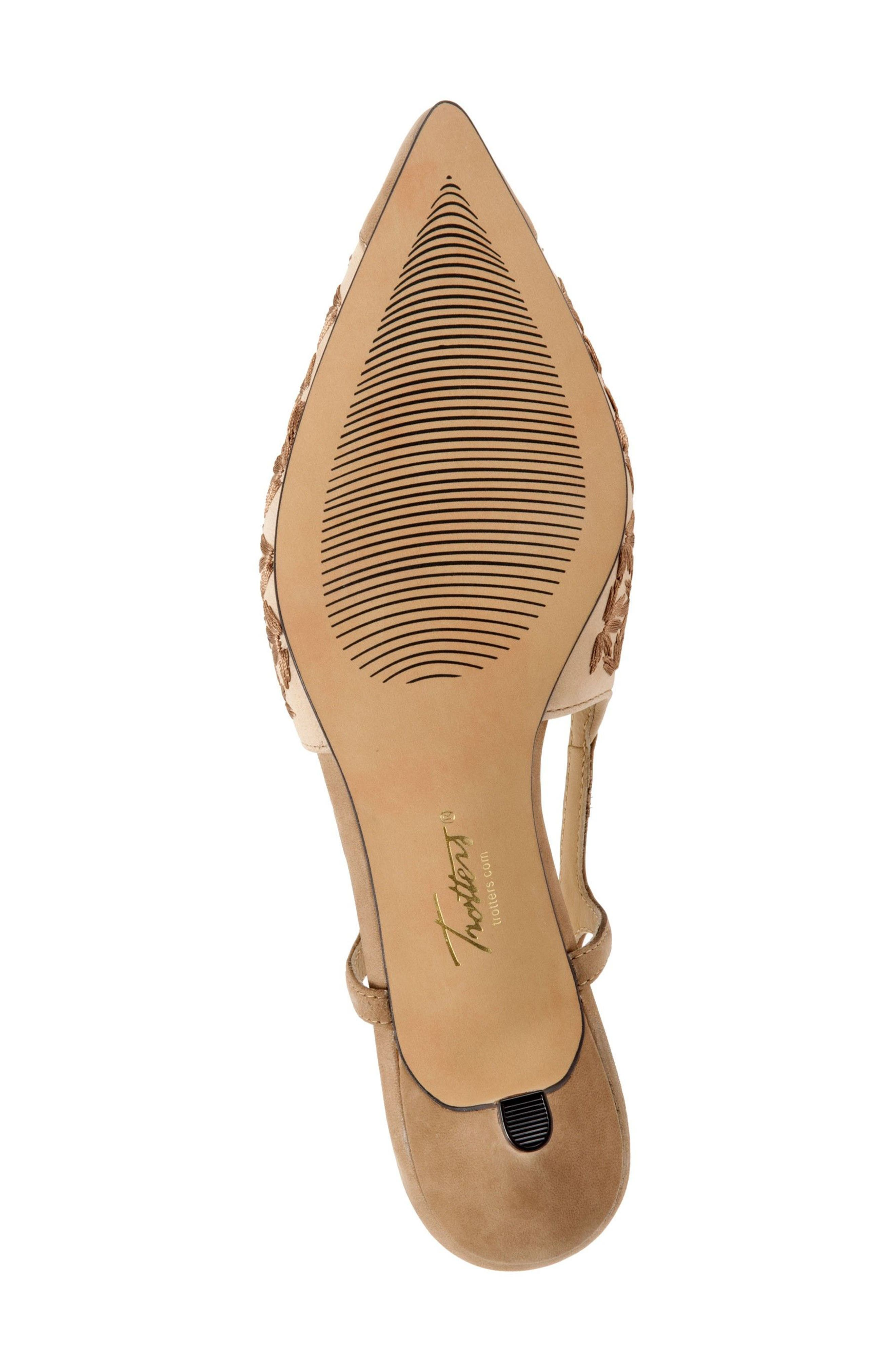 'Kimberly' Woven Leather Slingback Pump,                             Alternate thumbnail 4, color,                             Dark Tan/ Sand/ Bronze Leather