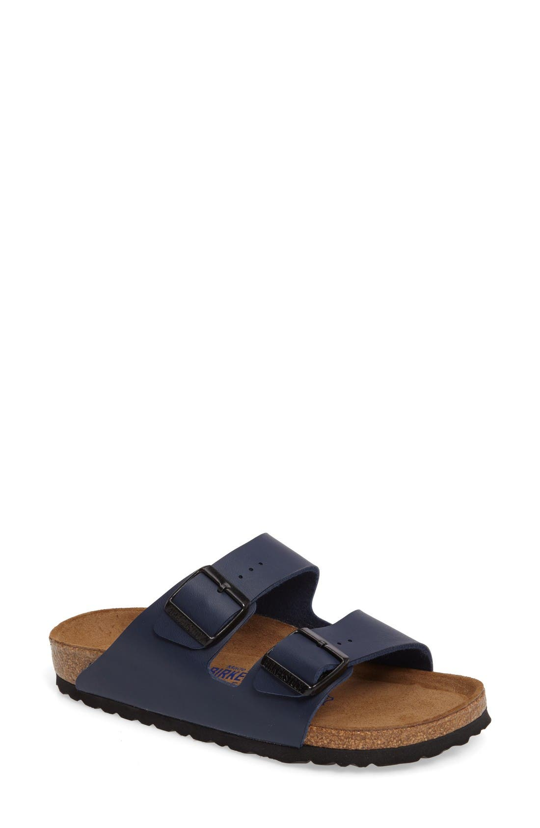 'Arizona' Soft Footbed Sandal, Main, color, Navy