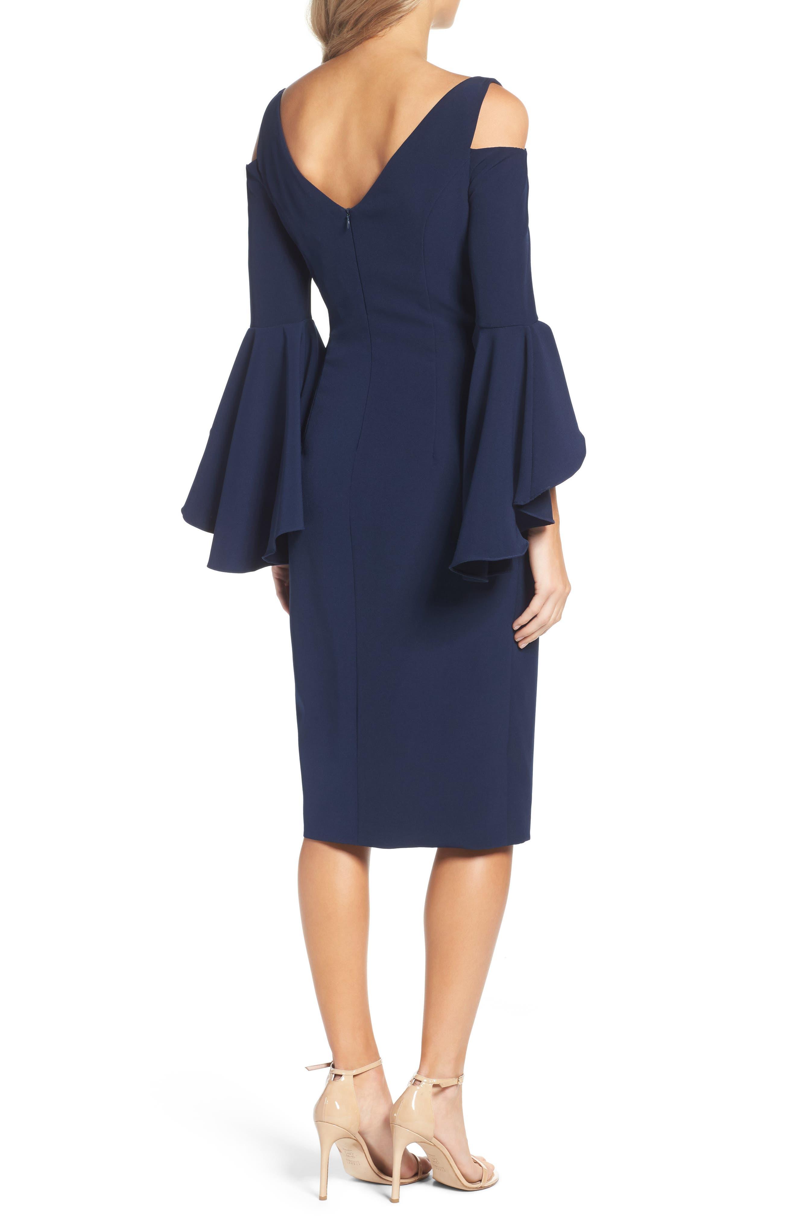 Alternate Image 2  - Maggy London Cold Shoulder Dress (Regular & Petite)