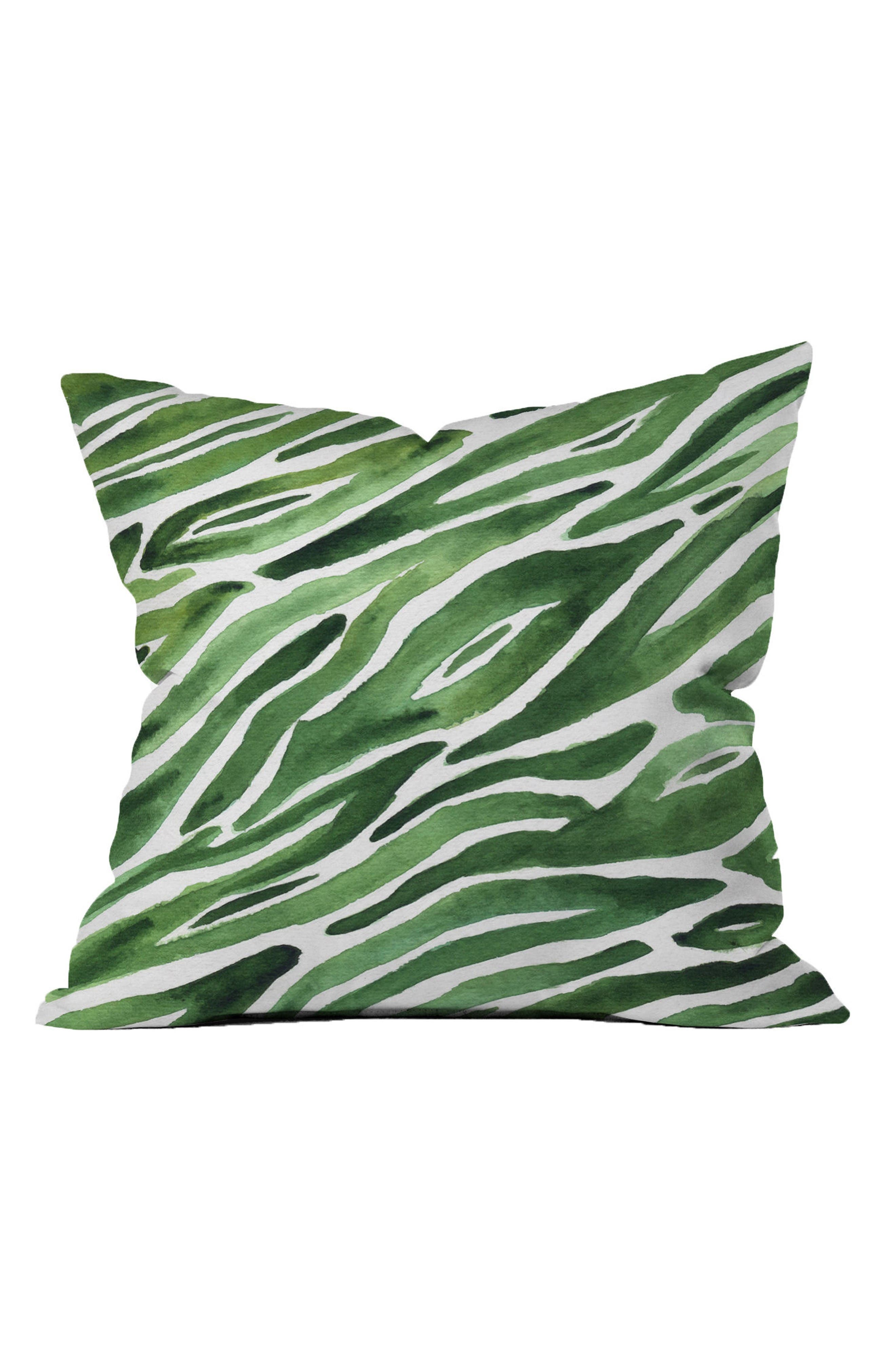 Elena Blanco Accent Pillow,                             Main thumbnail 1, color,                             Green