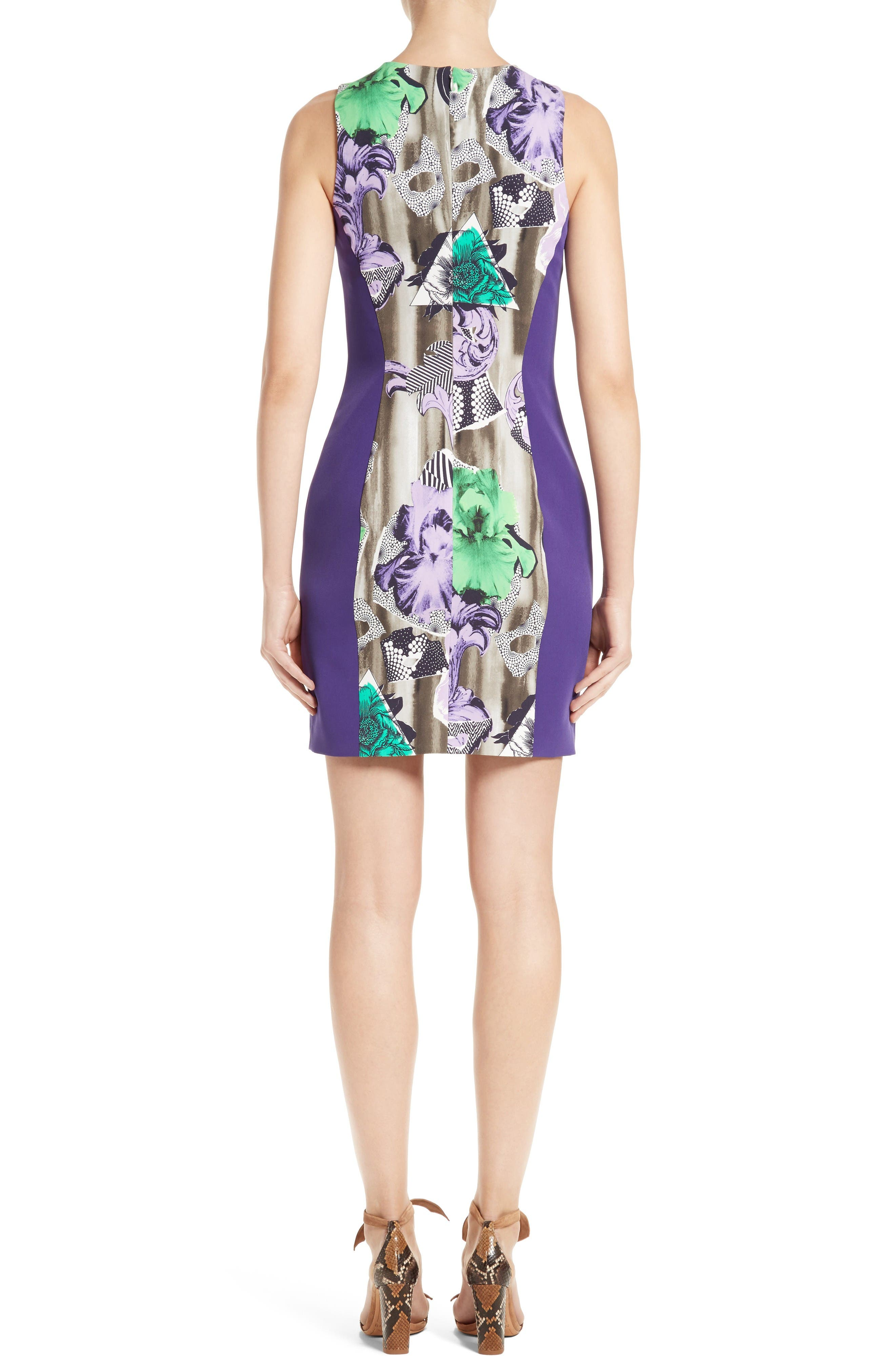 Alternate Image 2  - Versace Collection Print Sheath Dress