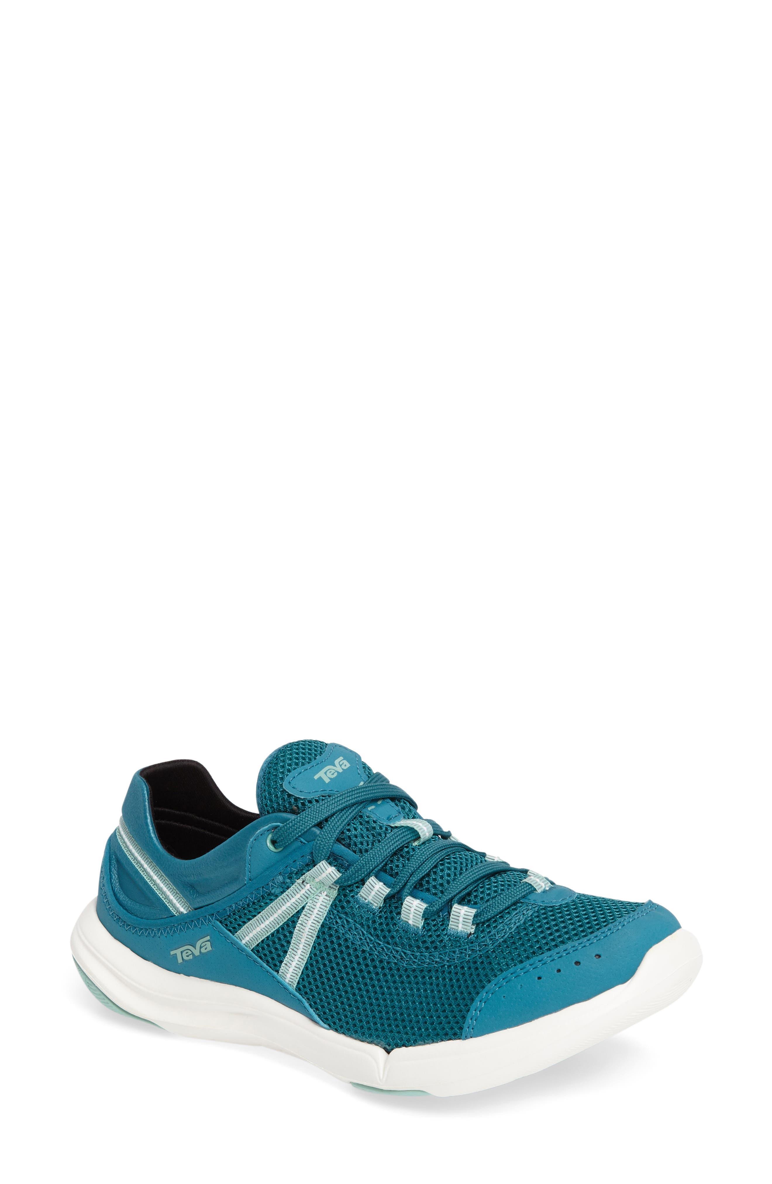 Evo Sneaker,                         Main,                         color, Blue Fabric