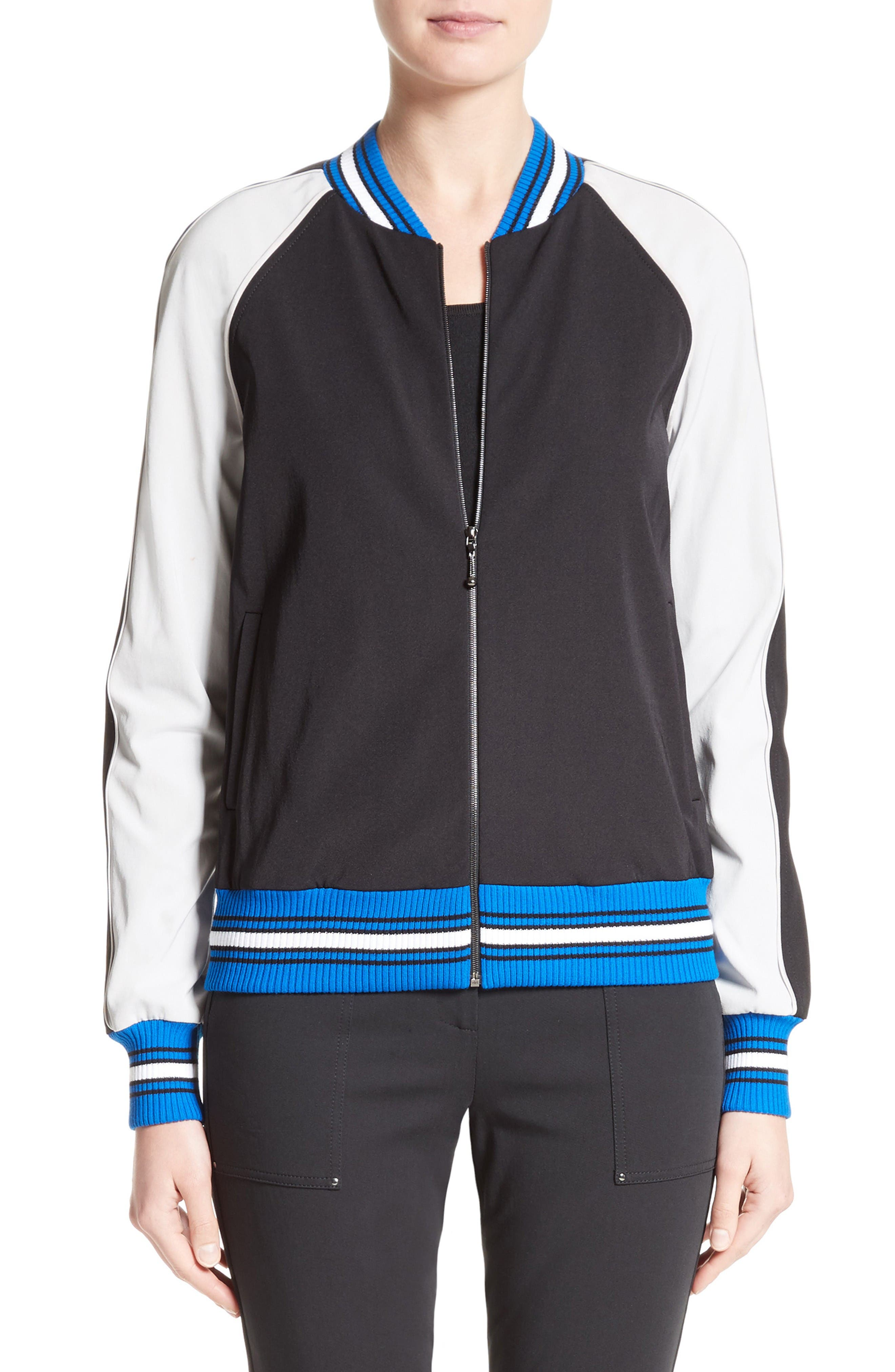 Main Image - St. John Collection Stretch Tech Twill Bomber