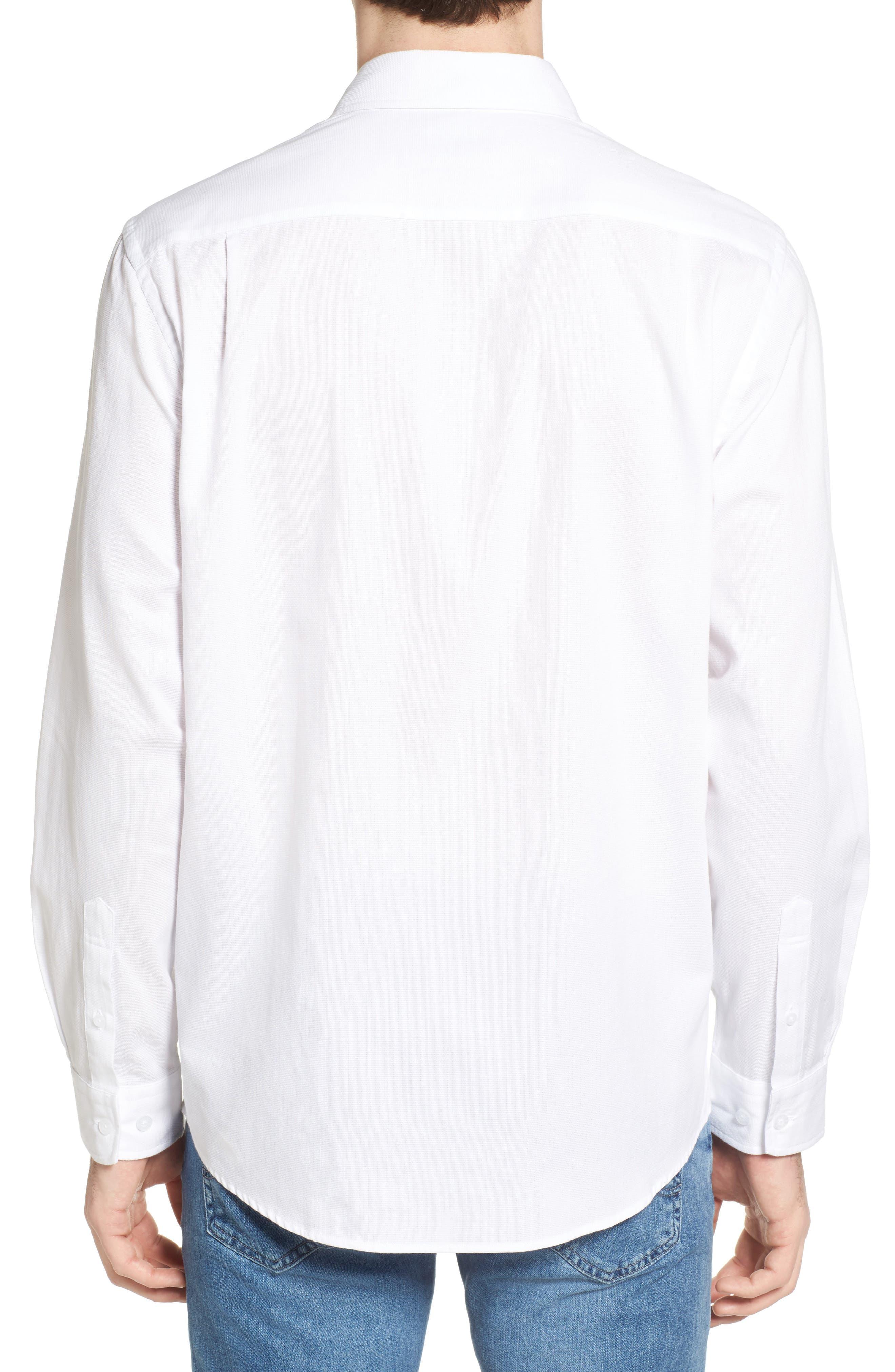 Mount Hutton Sport Shirt,                             Alternate thumbnail 3, color,                             Snow