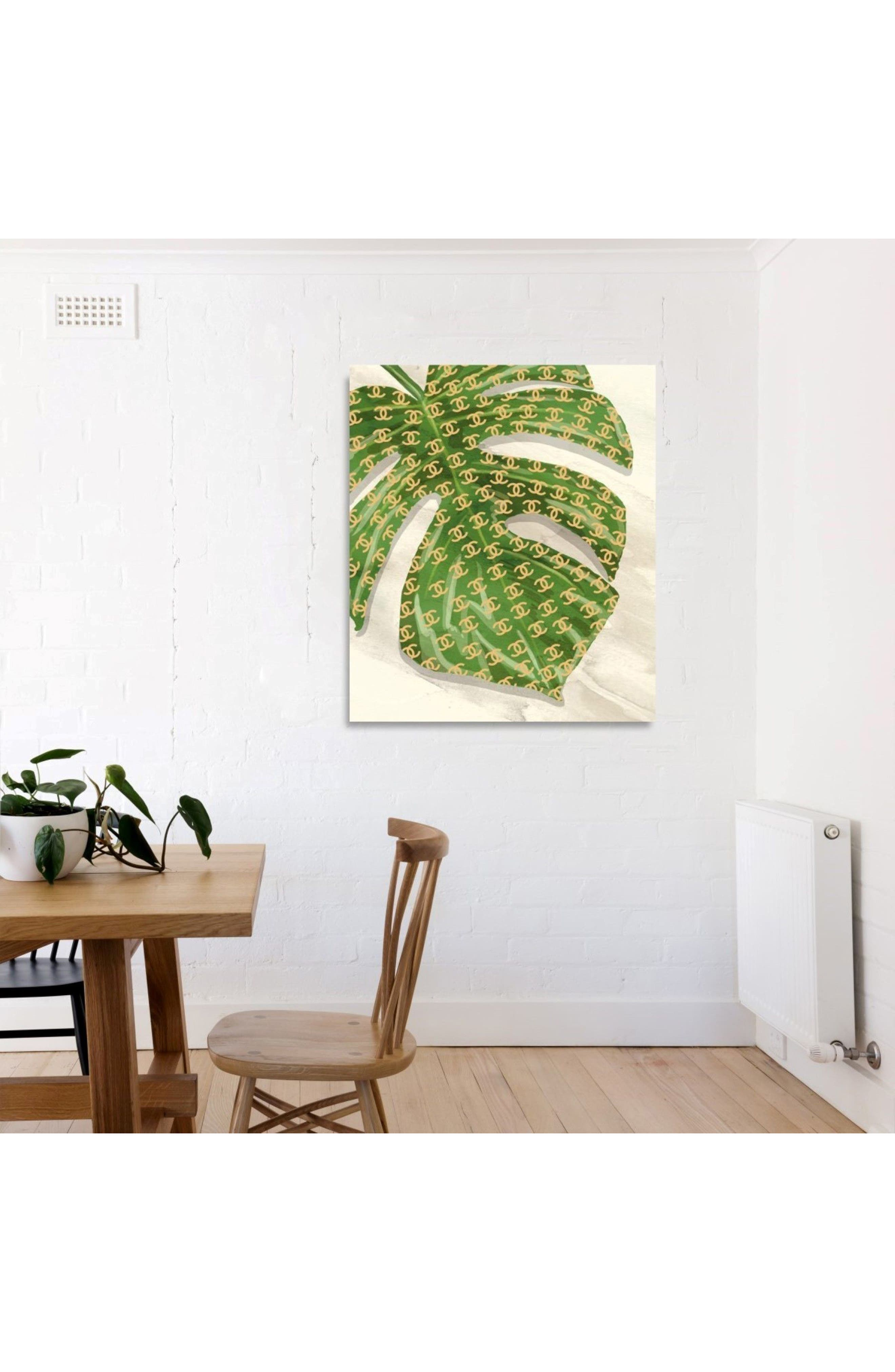 Fashion Leaves Havana I Canvas Print,                             Alternate thumbnail 2, color,                             Green