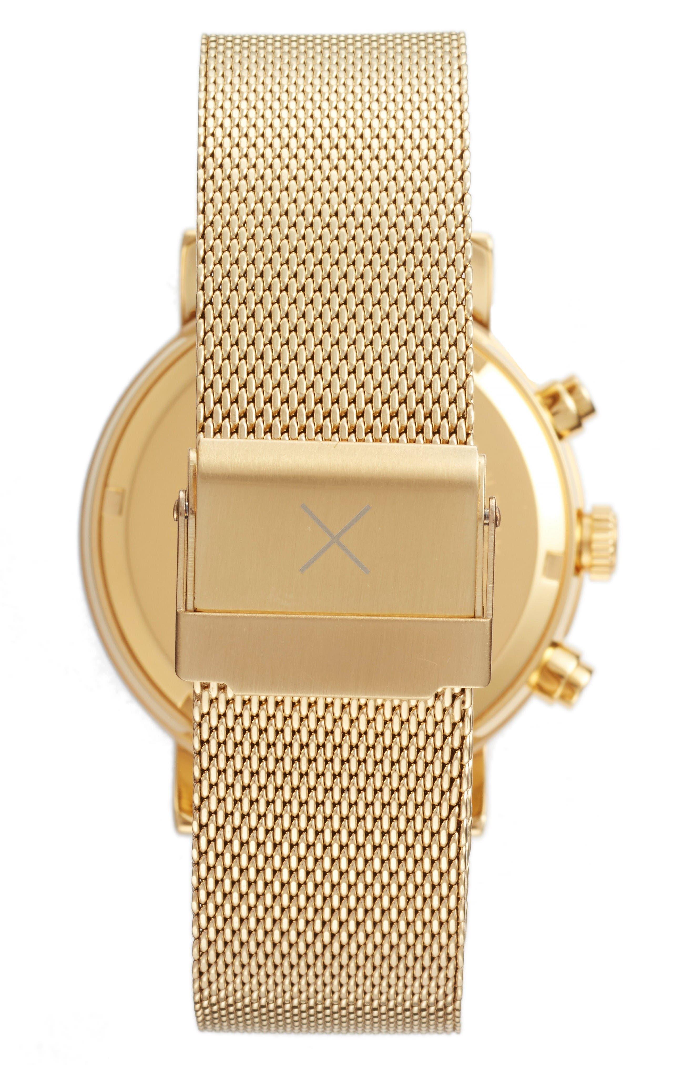 2.0 Chronograph Mesh Strap Watch, 40mm,                             Alternate thumbnail 2, color,                             Gold/ Black
