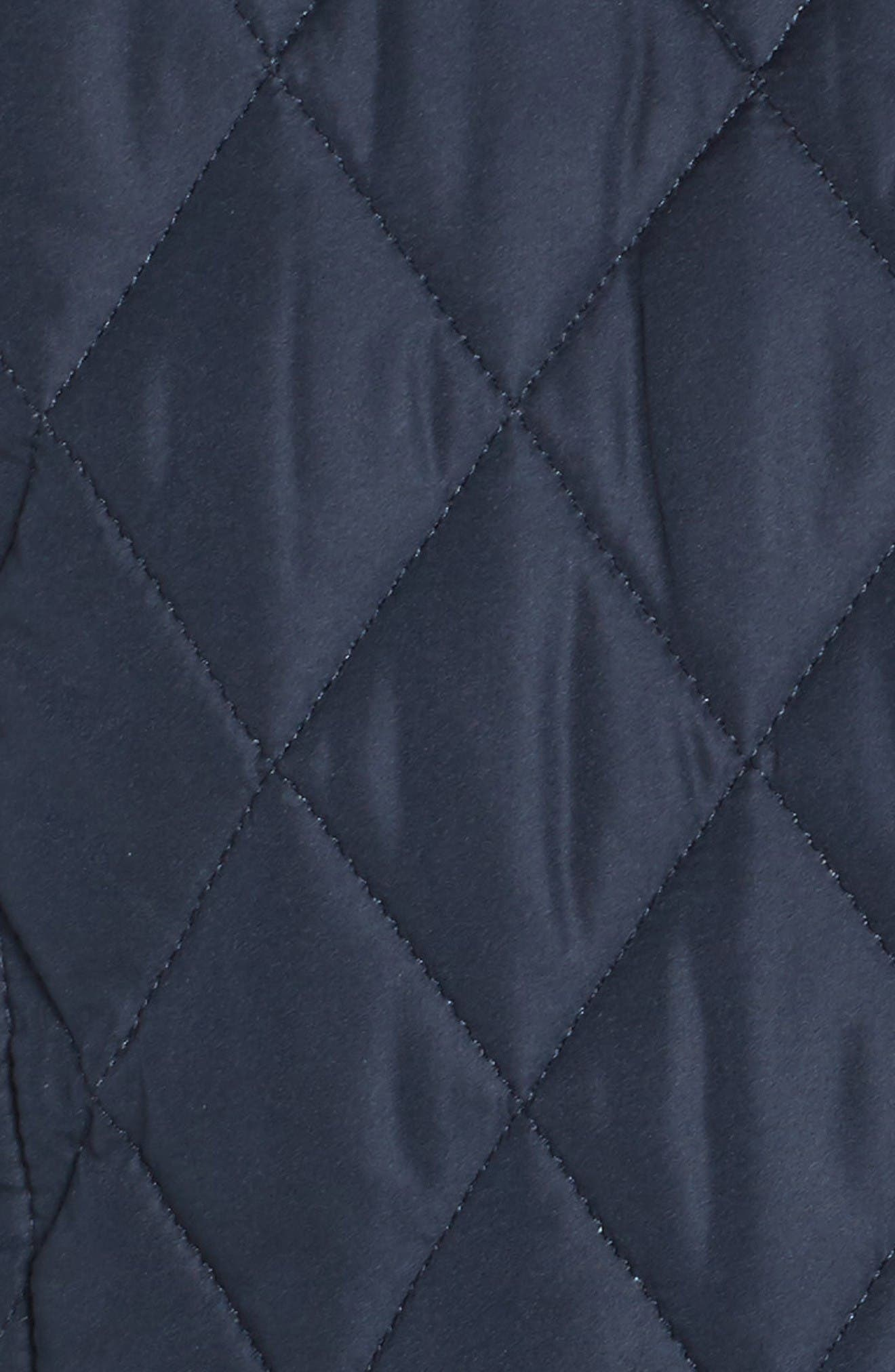 Spring Annandale Quilted Jacket,                             Alternate thumbnail 5, color,                             Navy/ Summer Tartan