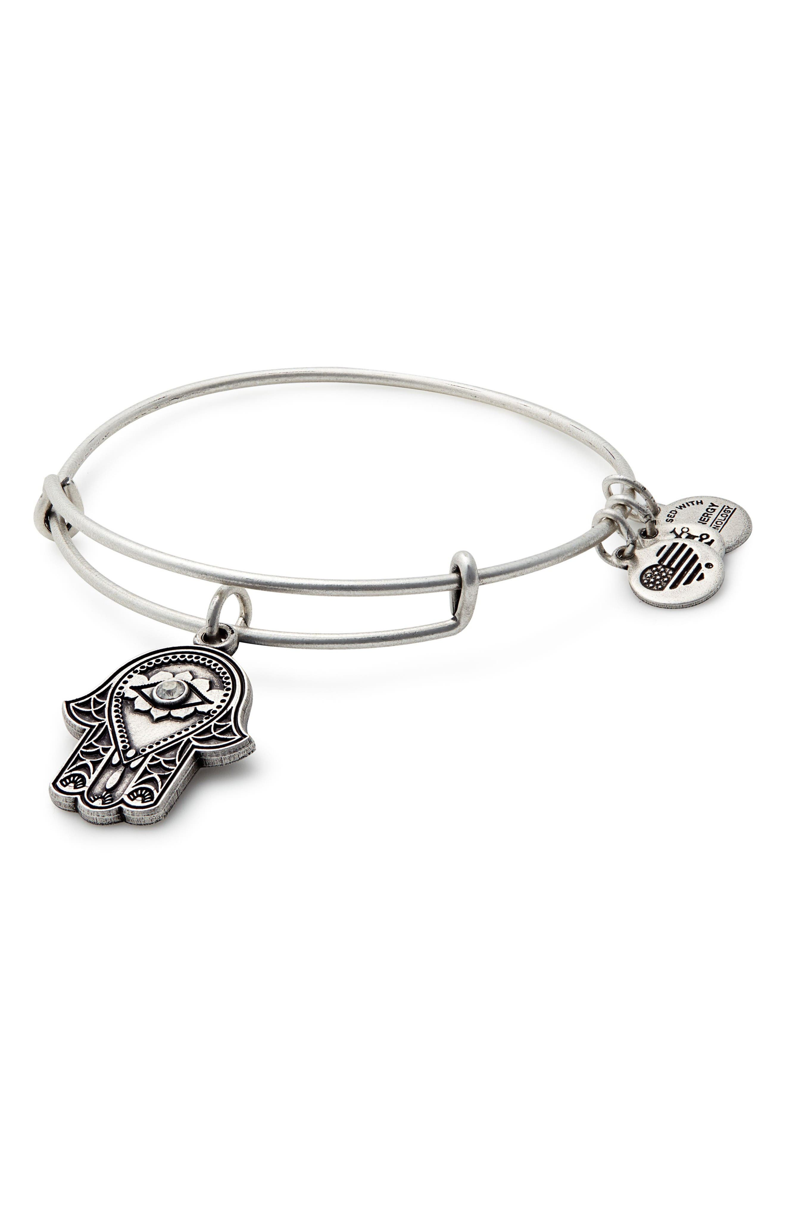 Alex and Ani Hand of Fatima Adjustable Wire Bangle (Nordstrom Exclusive)