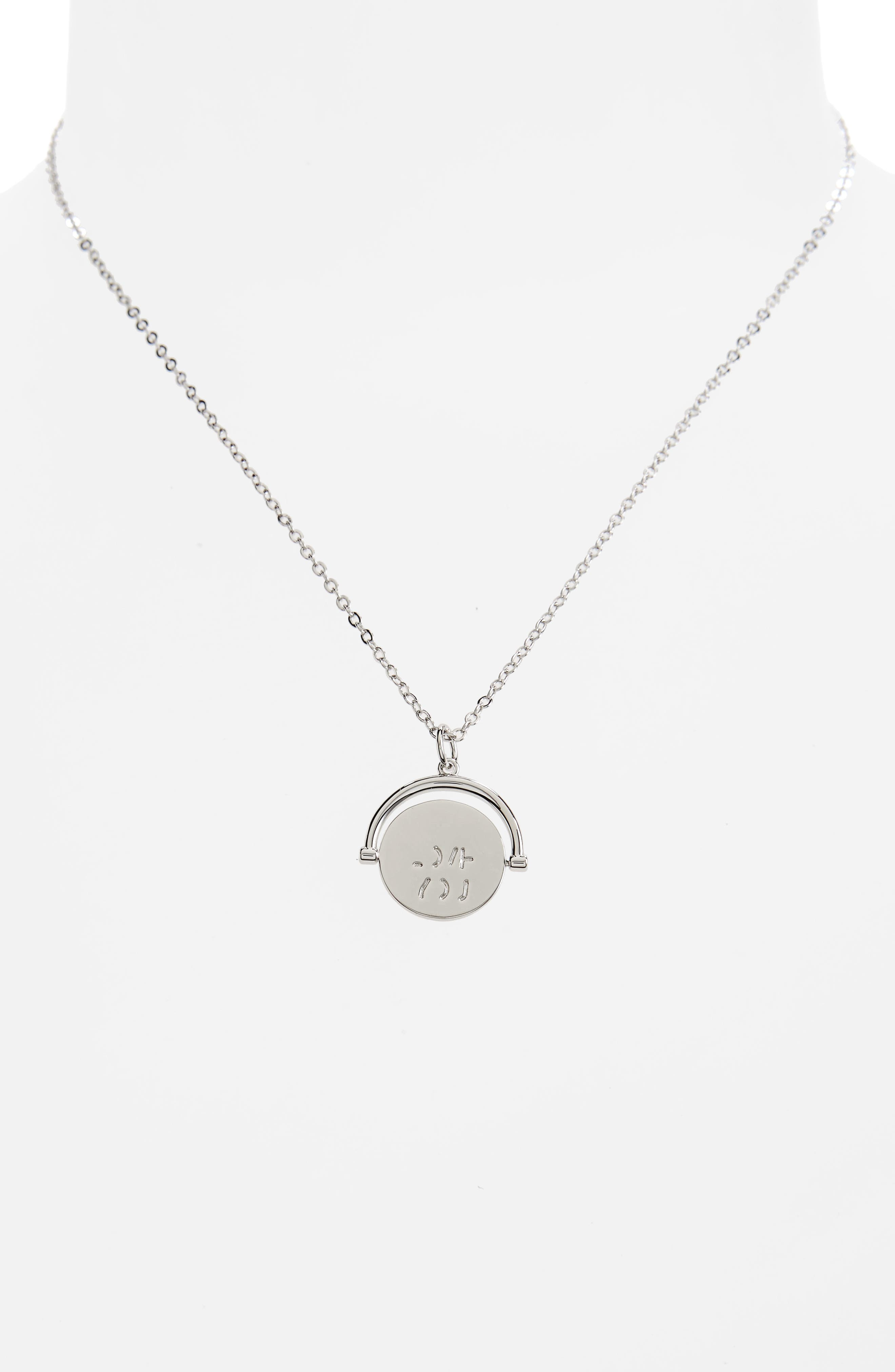 I Love You Love Code Charm Necklace,                             Alternate thumbnail 3, color,                             I Love You/ Silver