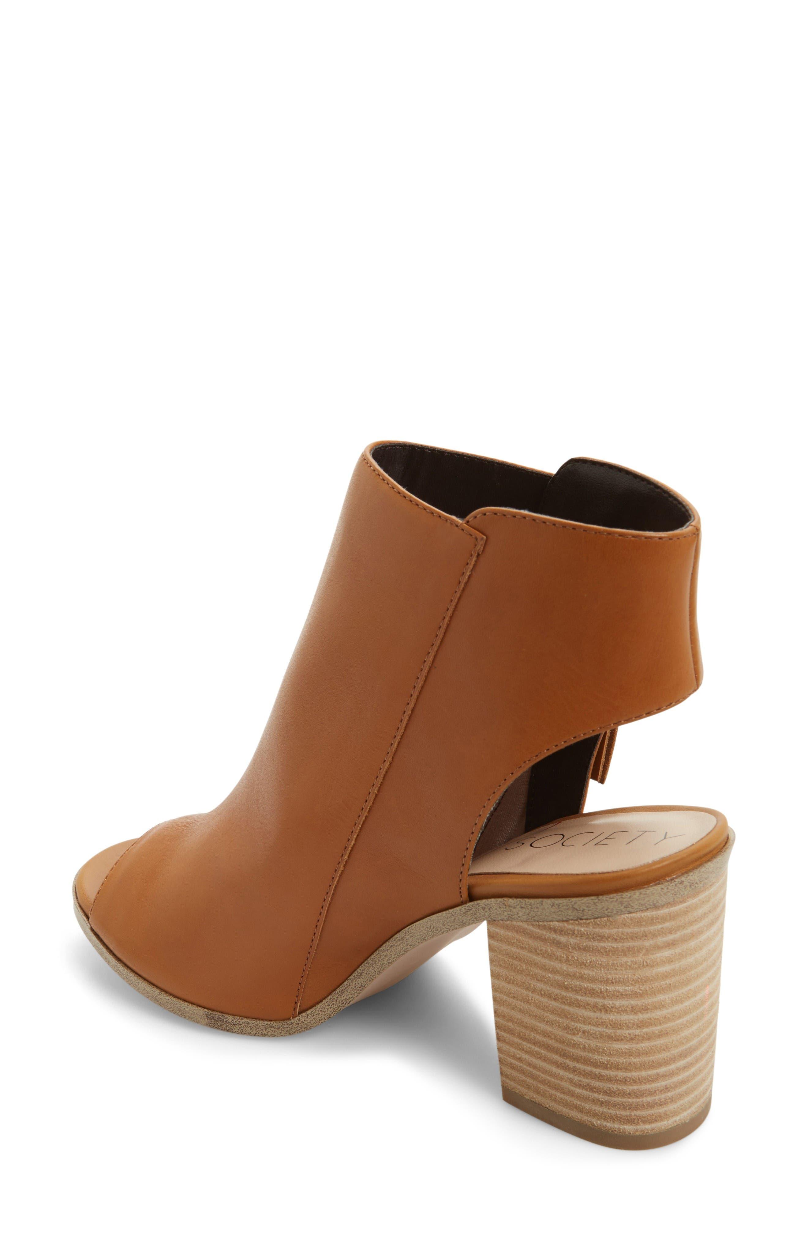 Alternate Image 2  - Sole Society Arizona Block Heel Peep-Toe Bootie (Women)