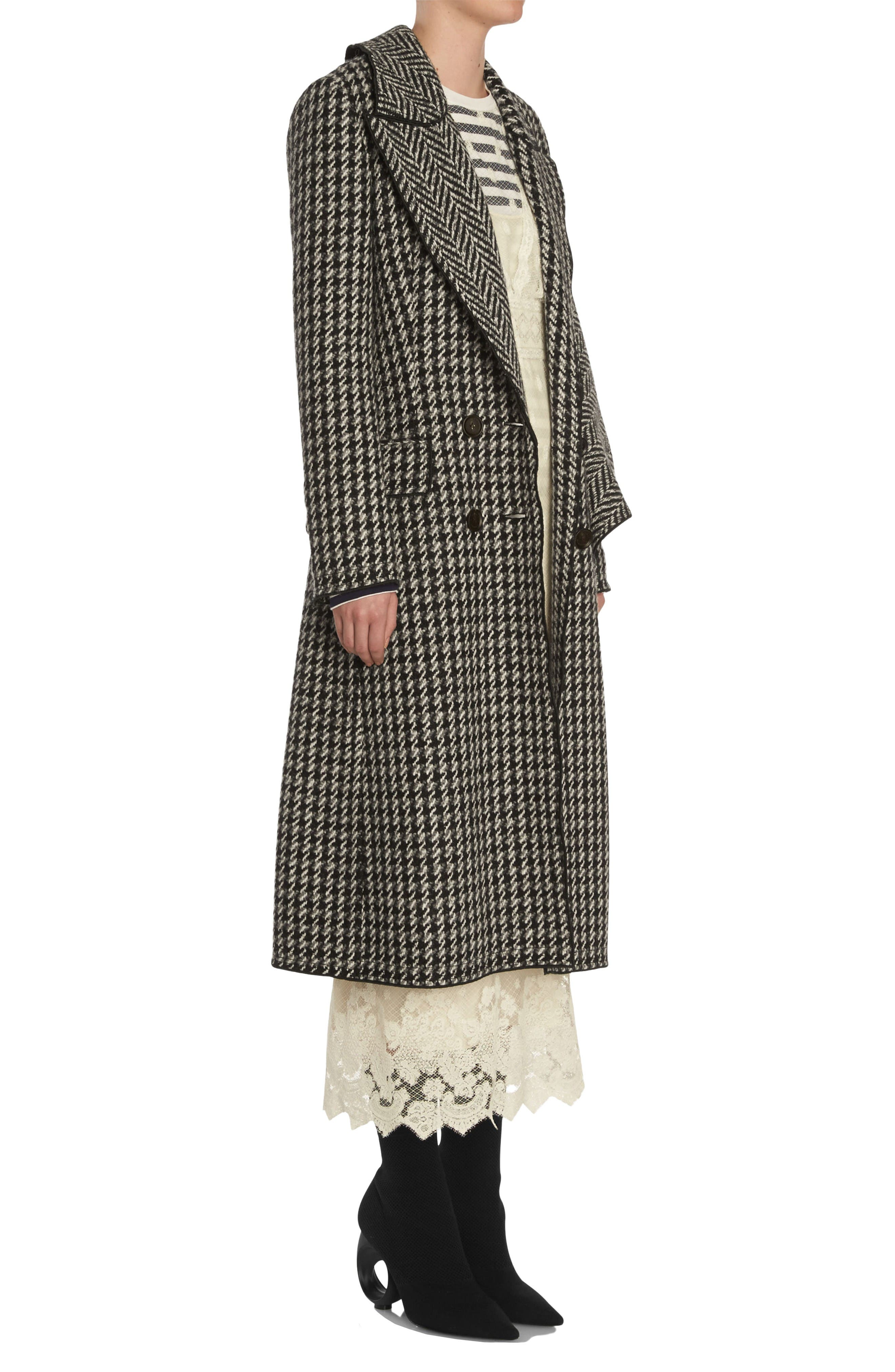 Alternate Image 3  - Burberry Houndstooth Wool Coat