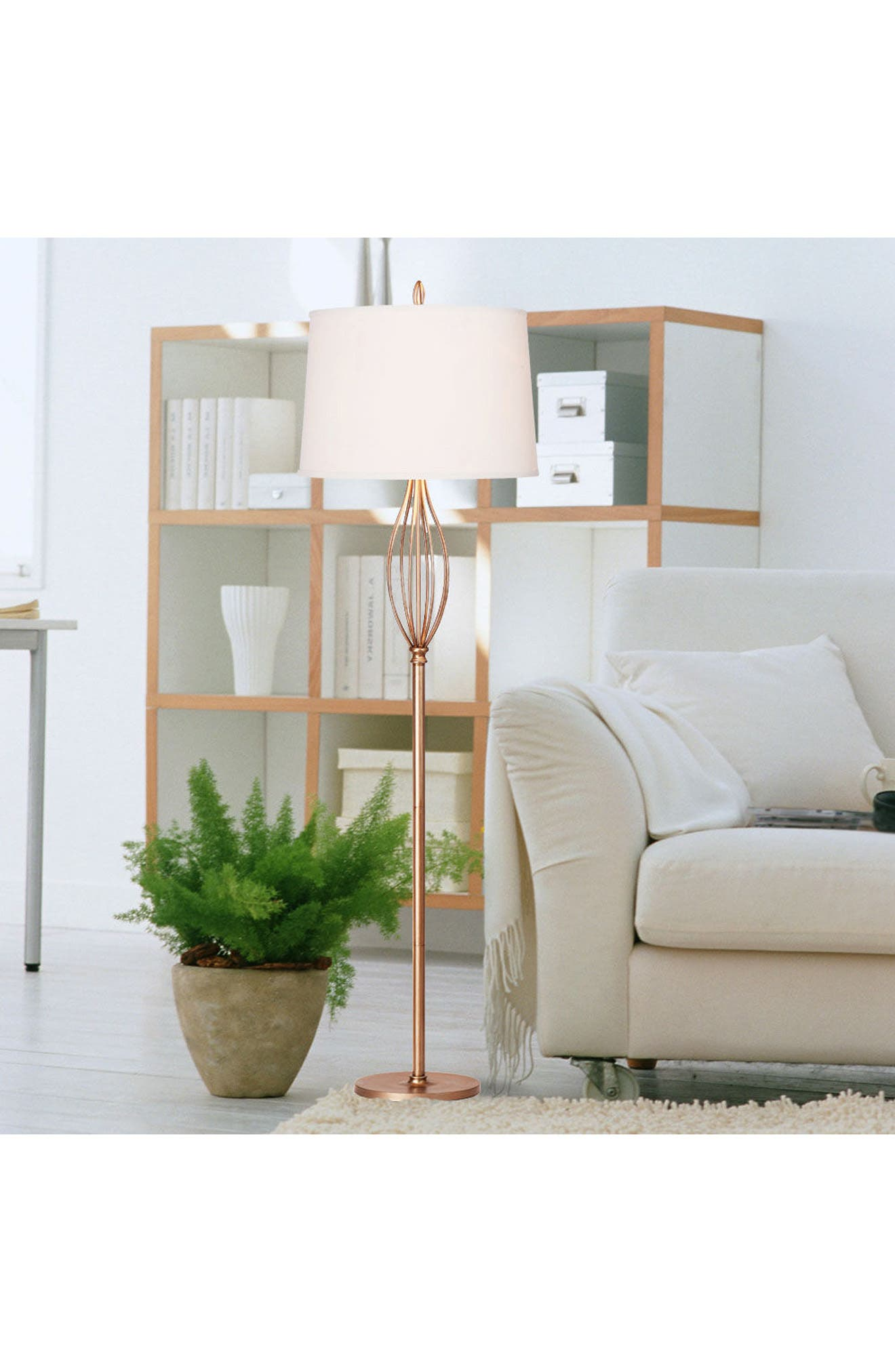 JAlexander Tessa Metal Floor Lamp,                             Alternate thumbnail 2, color,                             Silver