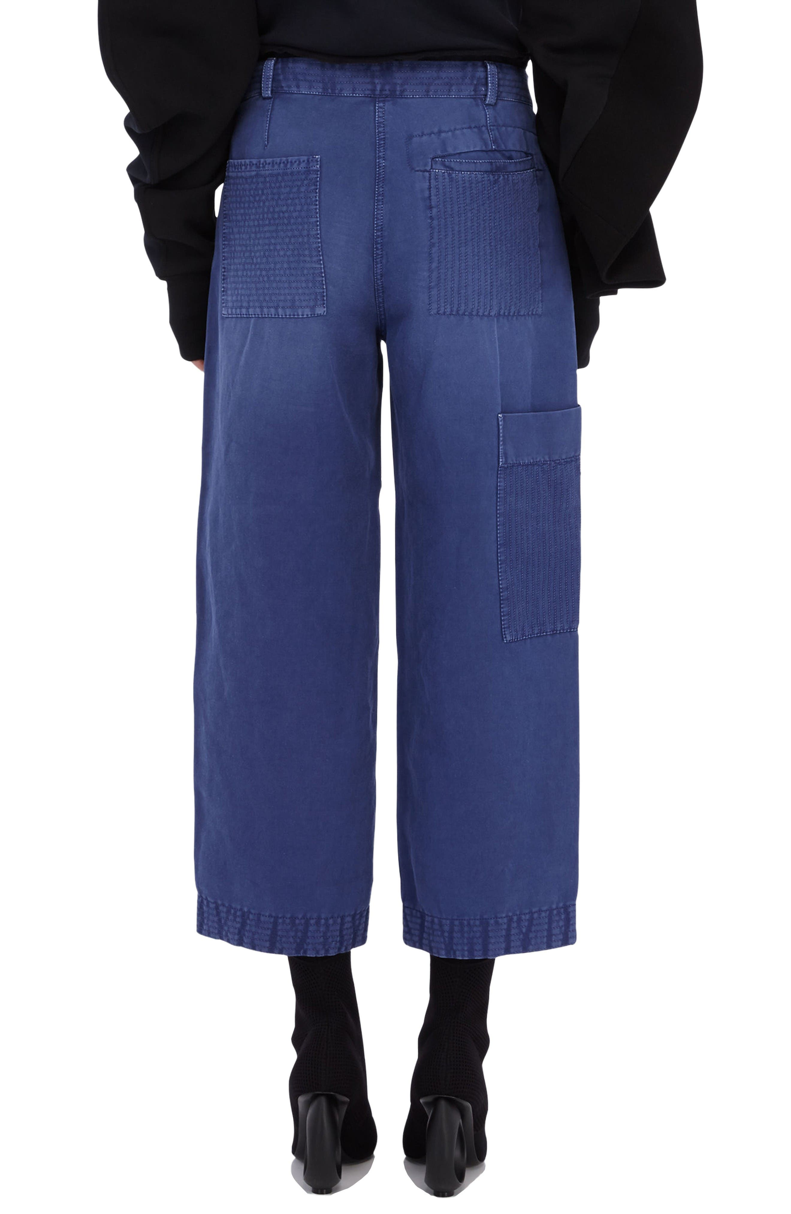 Alternate Image 2  - Burberry Crop Workwear Pants