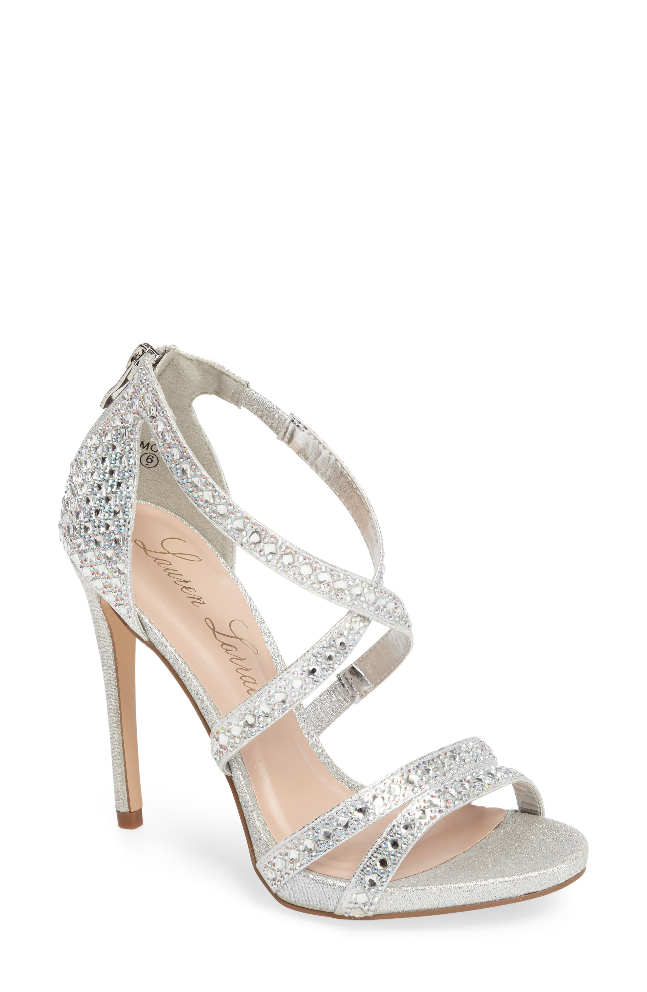 Amore Sandal,                         Main,                         color, Silver