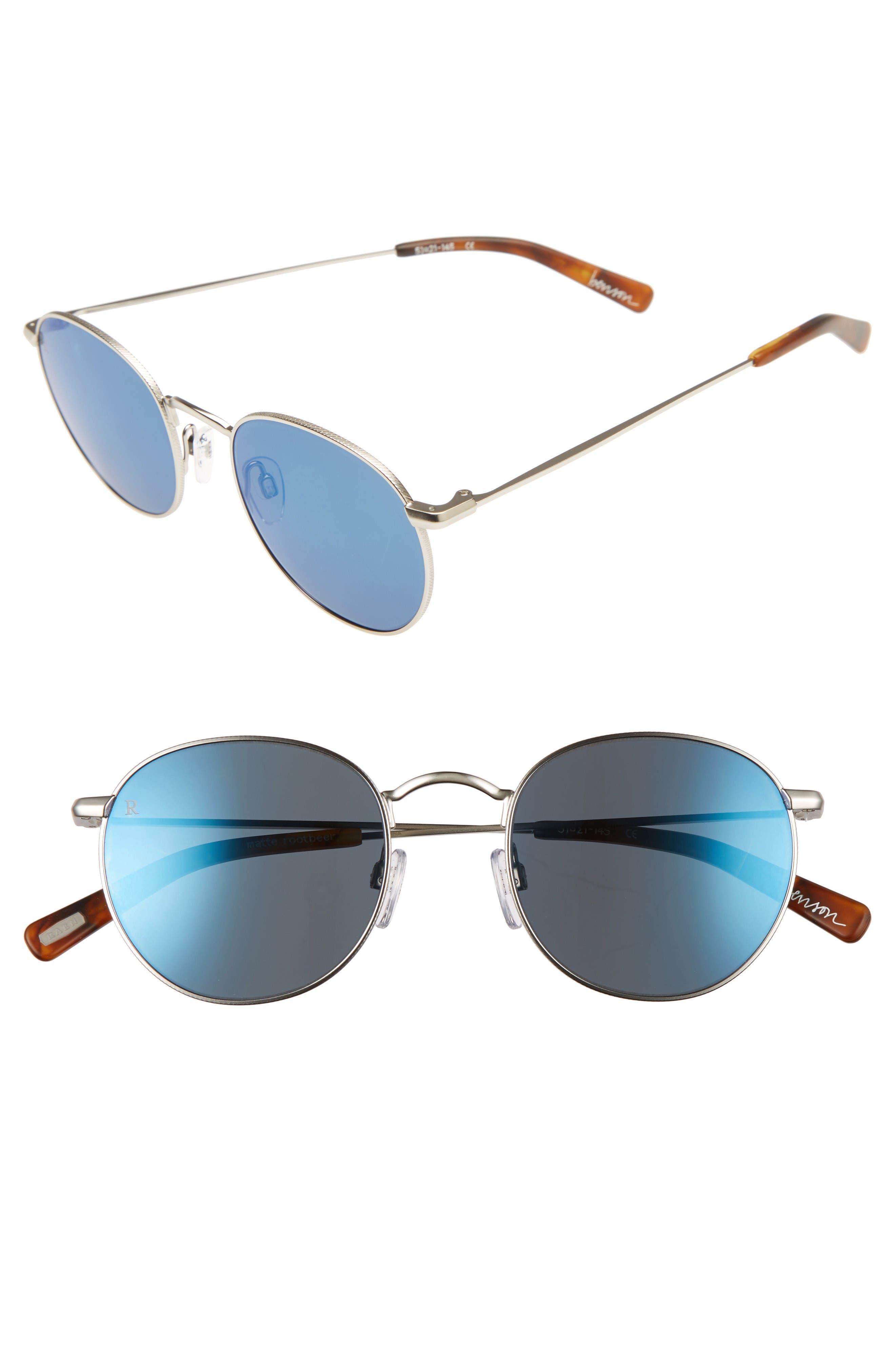 RAEN Benson 51Mm Sunglasses - Silver/ Matte Root Beer