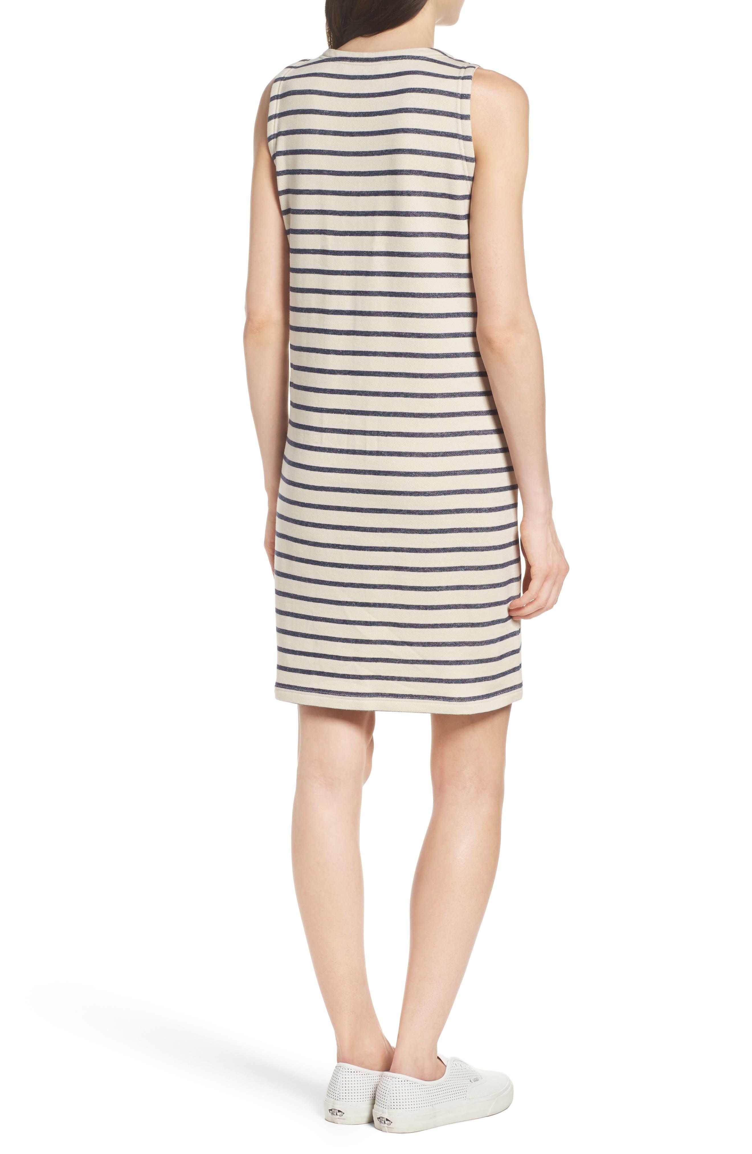 Normandy Stripe Dress,                             Alternate thumbnail 2, color,                             Brule/ Indigo