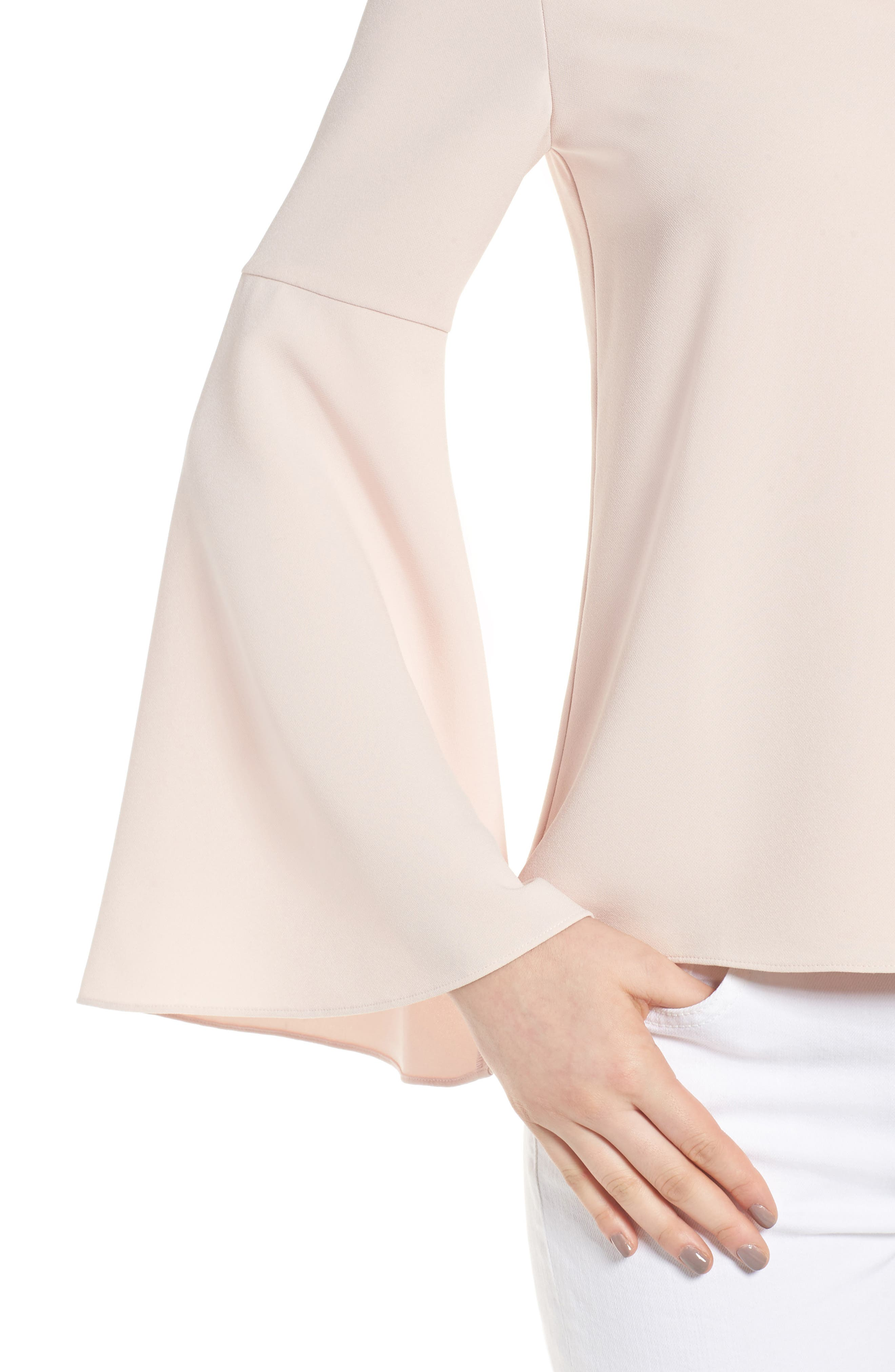 Marcela Bell Sleeve Top,                             Alternate thumbnail 4, color,                             Pale Pink