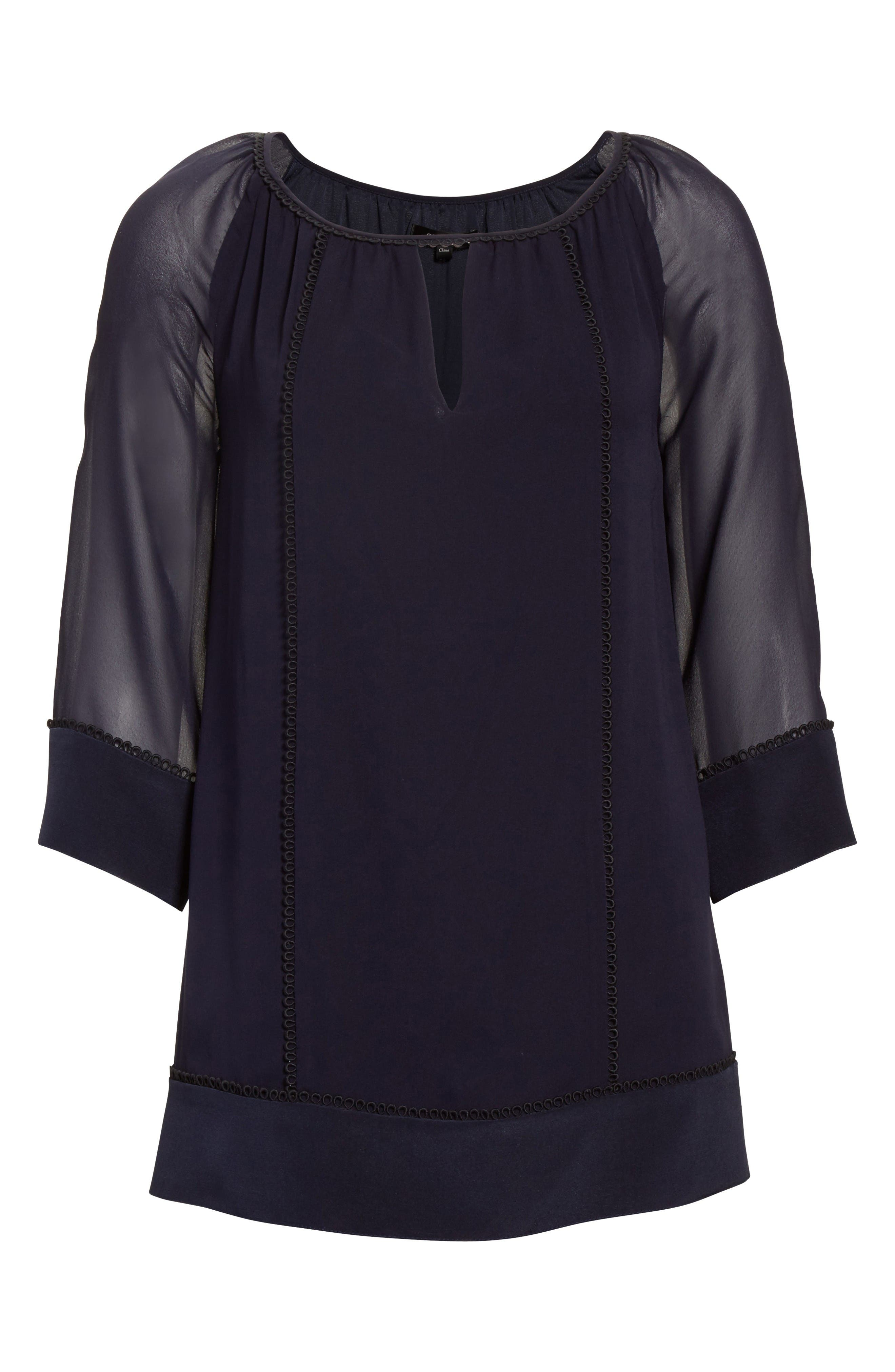 Alternate Image 6  - St. John Collection Silk Georgette Blouse