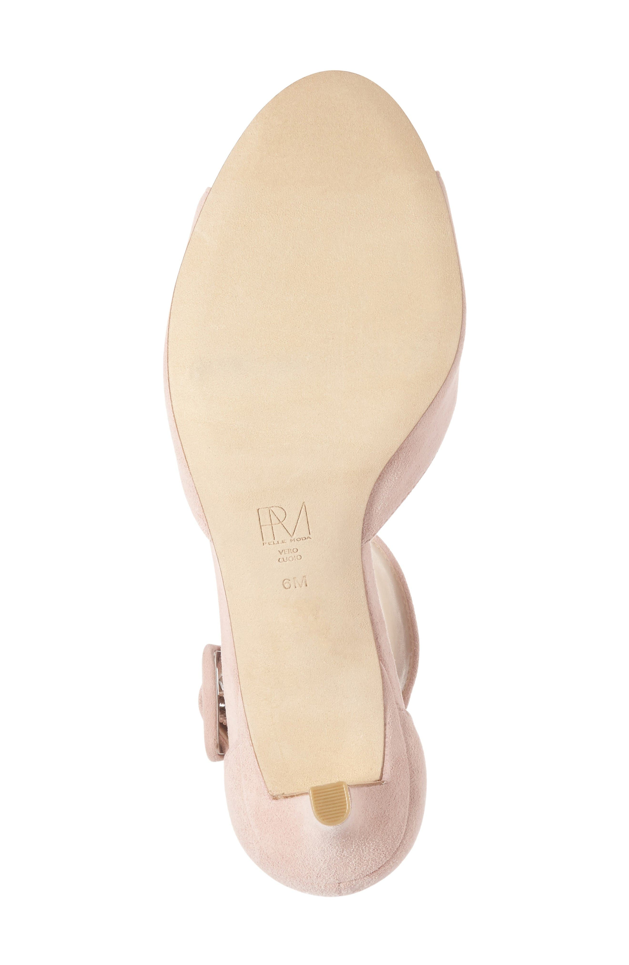 'Berlin' Ankle Strap Sandal,                             Alternate thumbnail 4, color,                             Pale Pink Leather