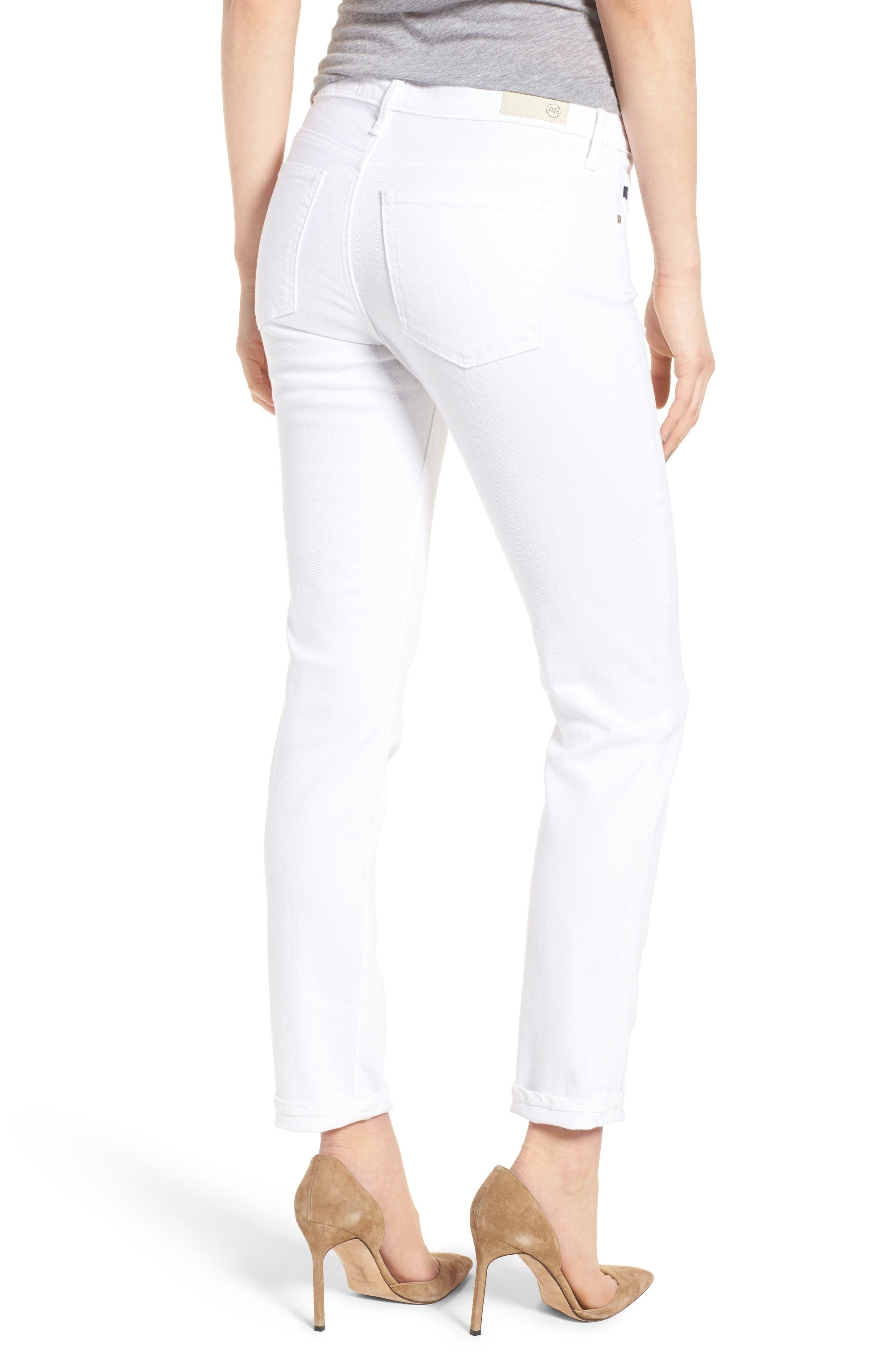 Prima Cigarette Leg Skinny Jeans,                             Alternate thumbnail 2, color,                             White