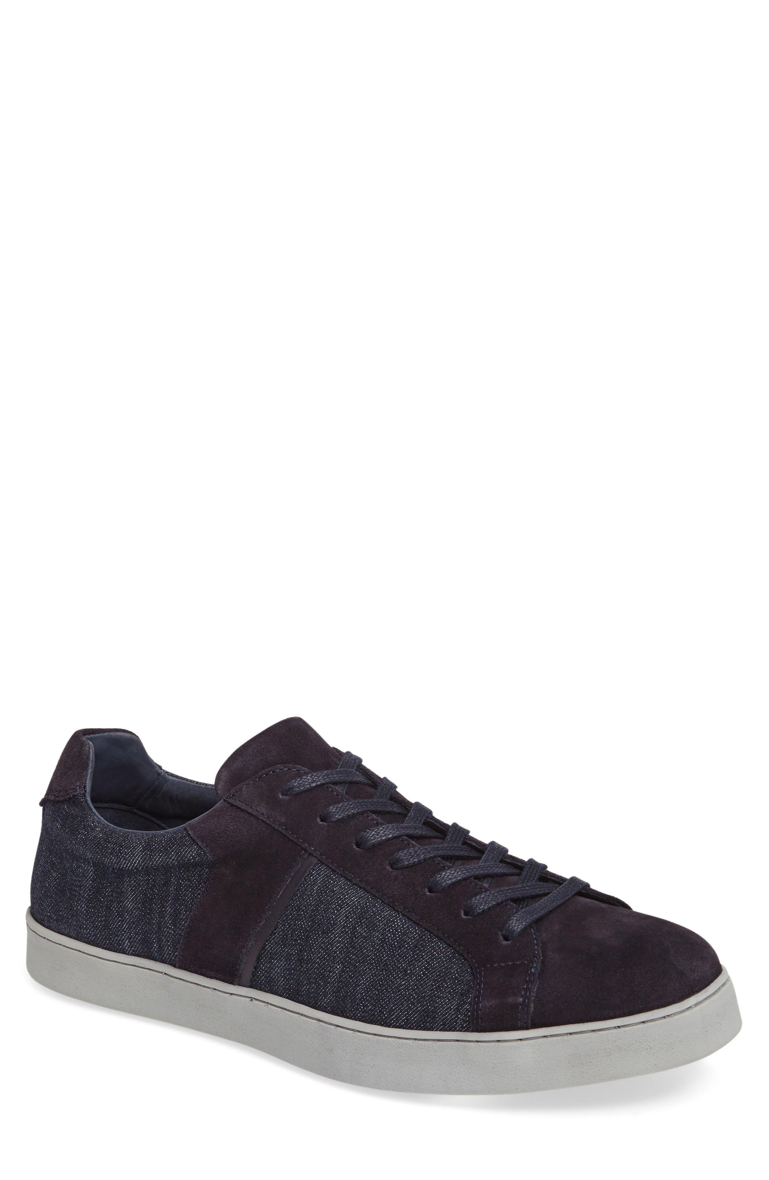 Ginx Sneaker,                         Main,                         color, Marino Suede