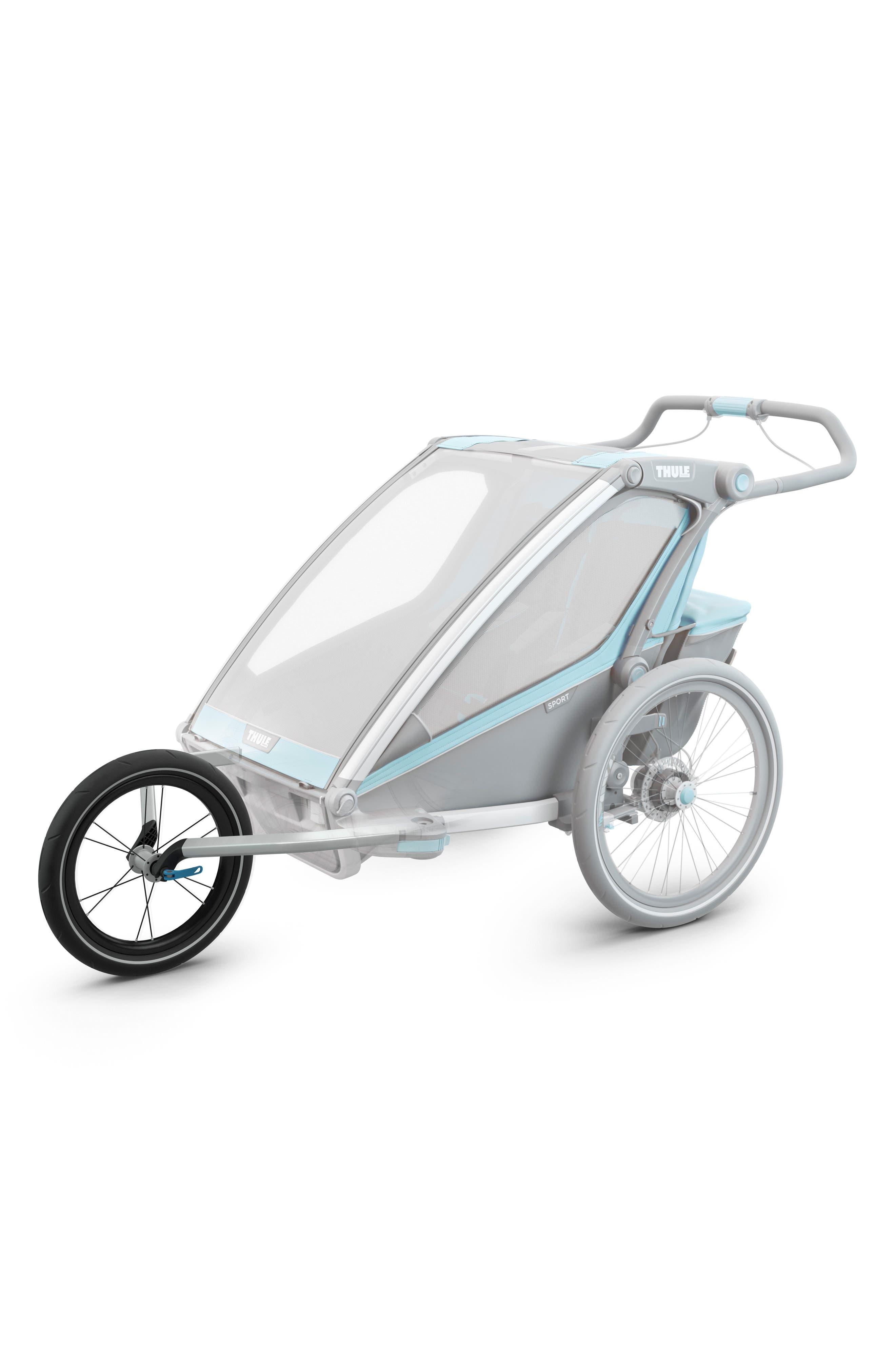 Jogger Conversion Kit for Thule Chariot Double Stroller,                             Alternate thumbnail 2, color,                             Black