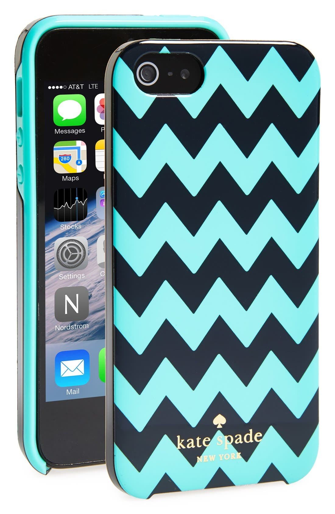 Alternate Image 1 Selected - kate spade new york chevron print iPhone 5 & 5s hard shell case