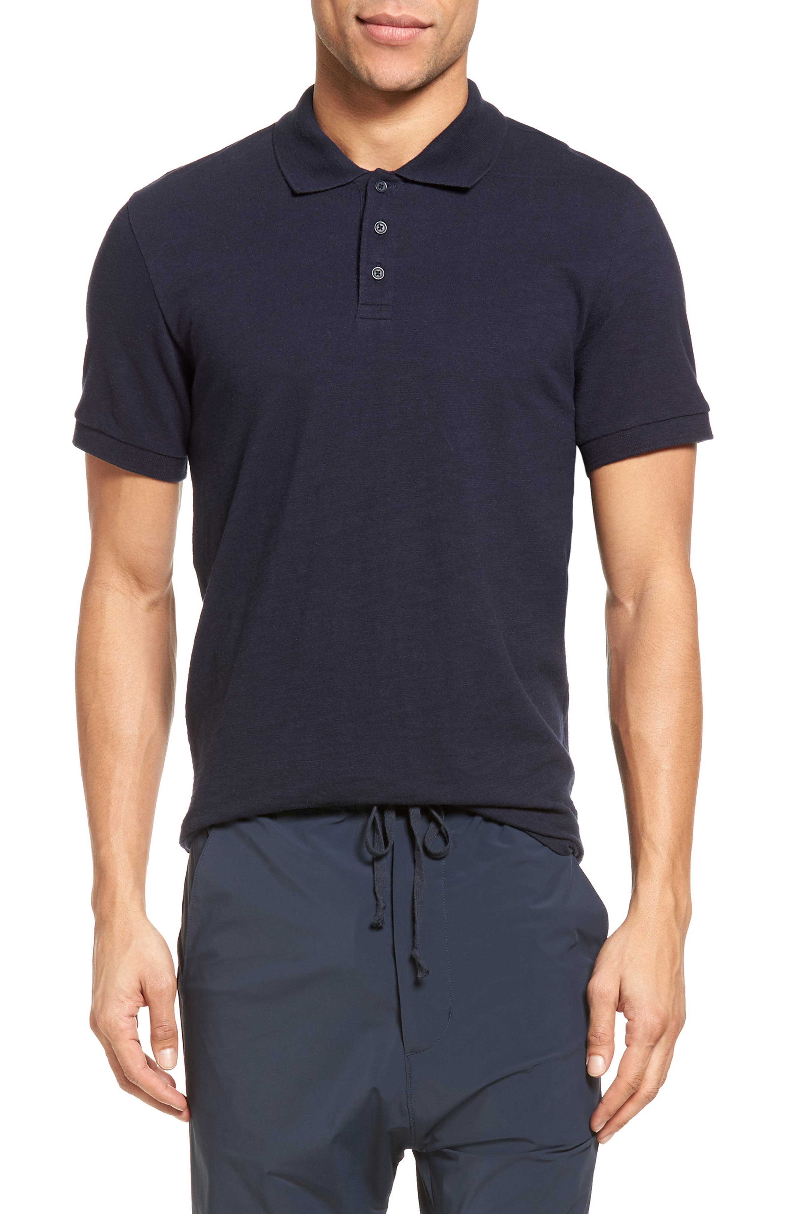 Vince Slim Fit Slub Polo