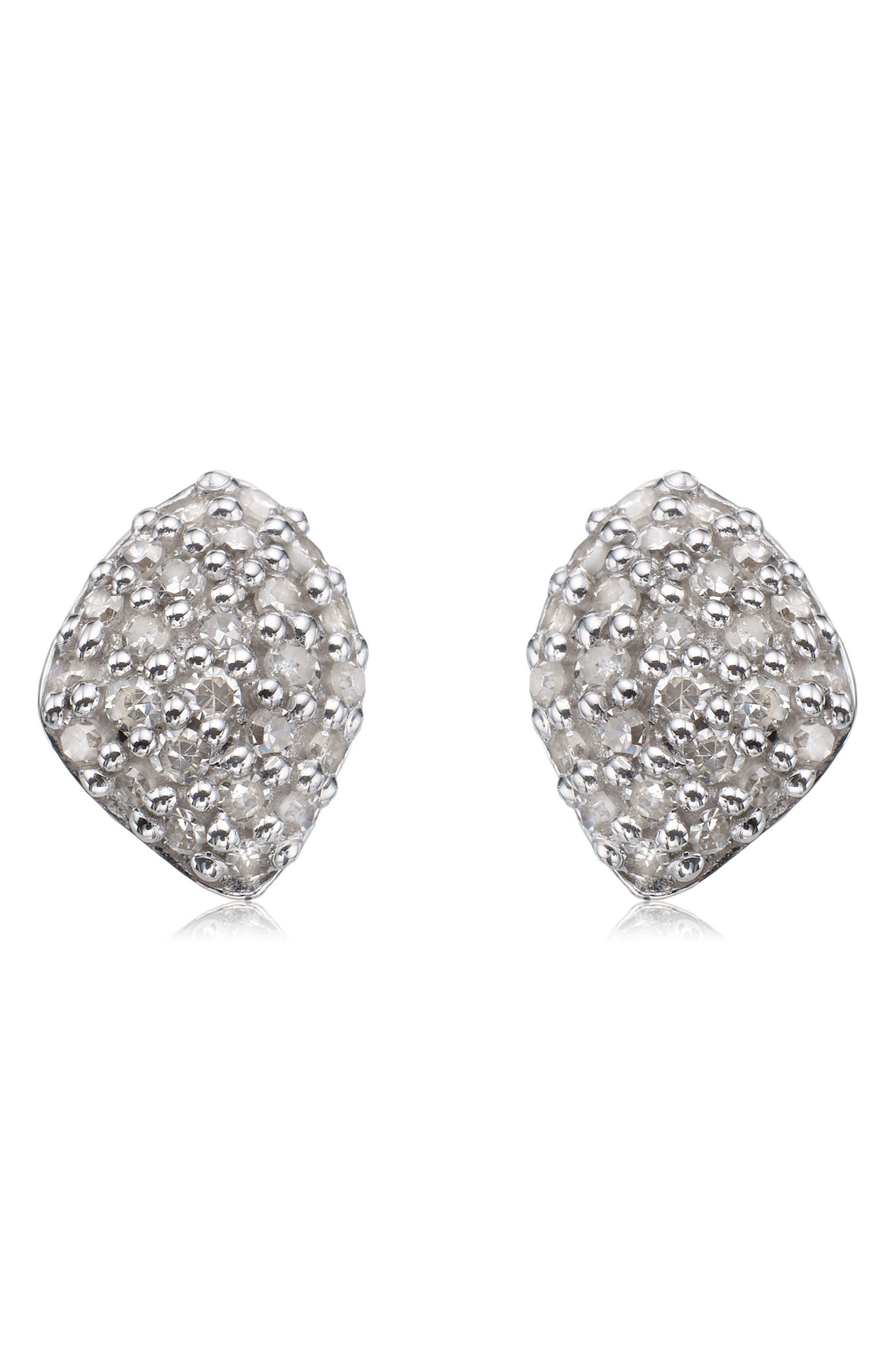 Monica Vinader Nura Mini Diamond Stud Earrings