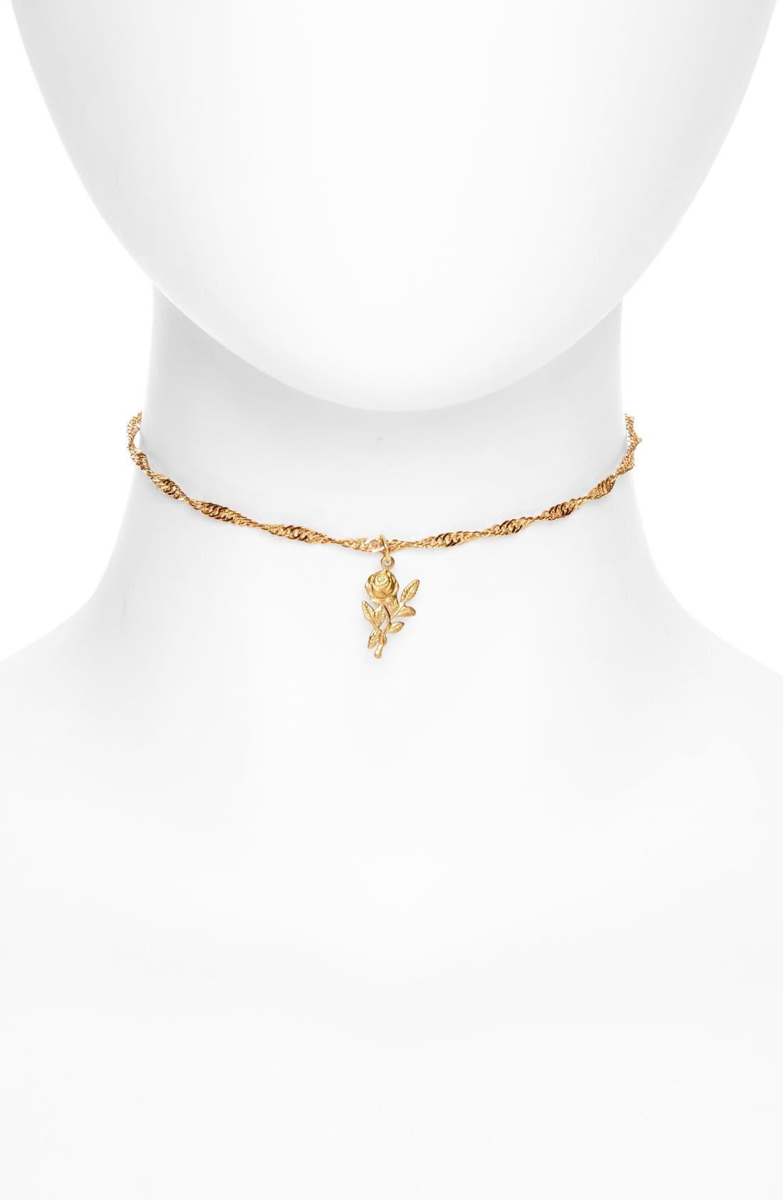 Alternate Image 1 Selected - FRASIER STERLING Forever Yours Charm Necklace