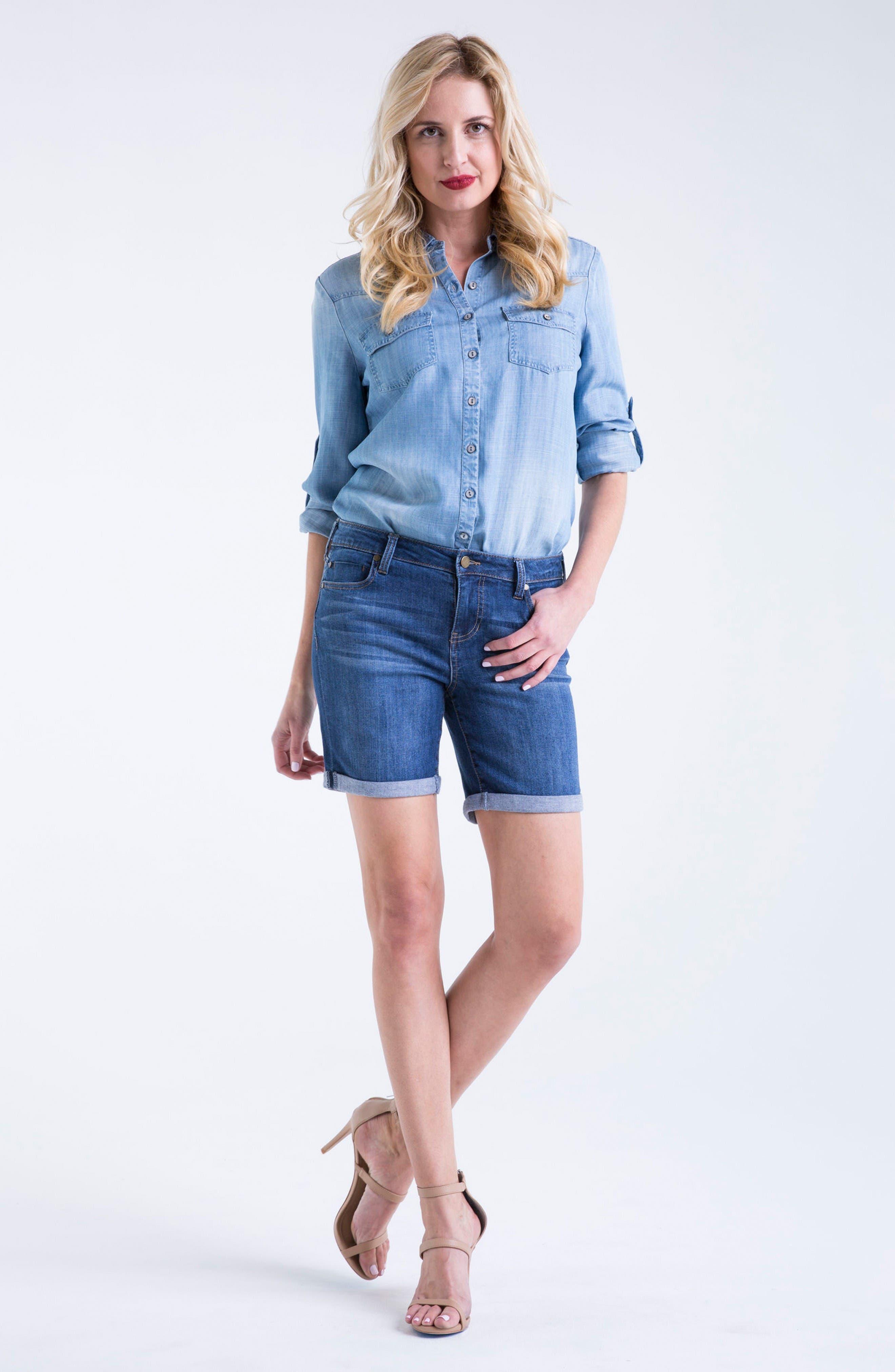 Alternate Image 2  - Liverpool Jeans Company Corine Stretch Denim Shorts
