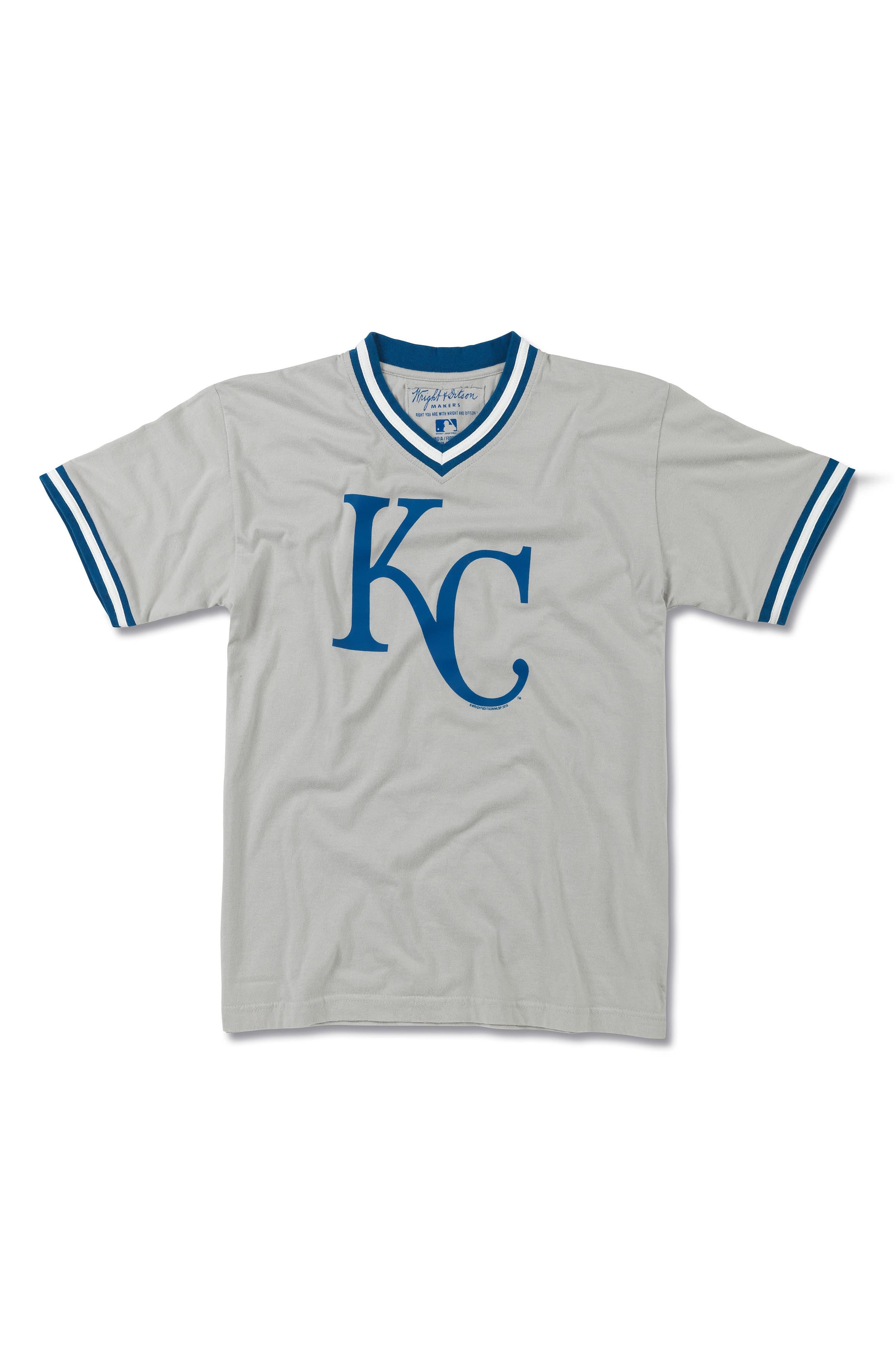 Kansas City Royals T-Shirt,                         Main,                         color, Cool Grey