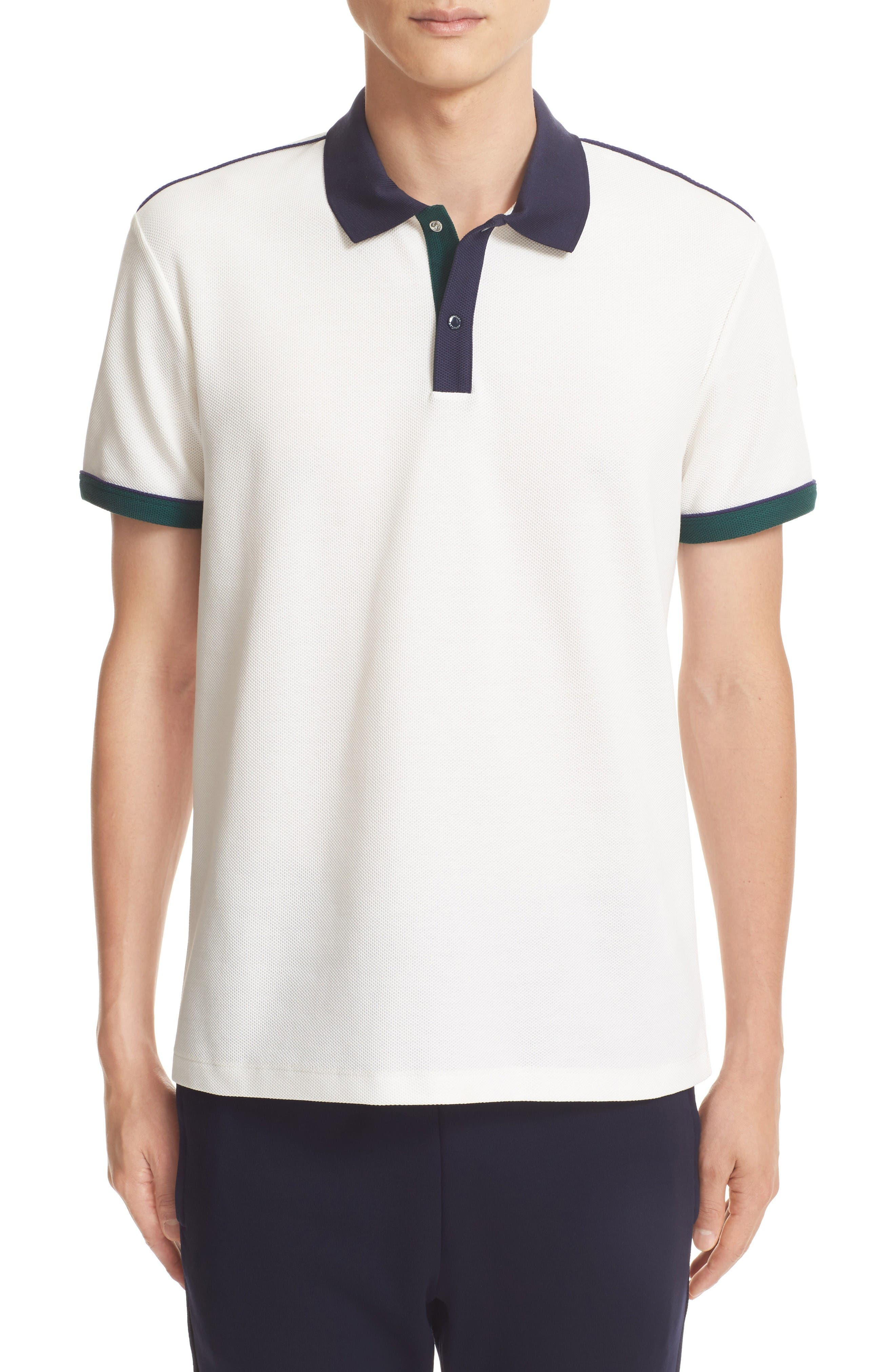 Alternate Image 1 Selected - Moncler Snap Placket Polo