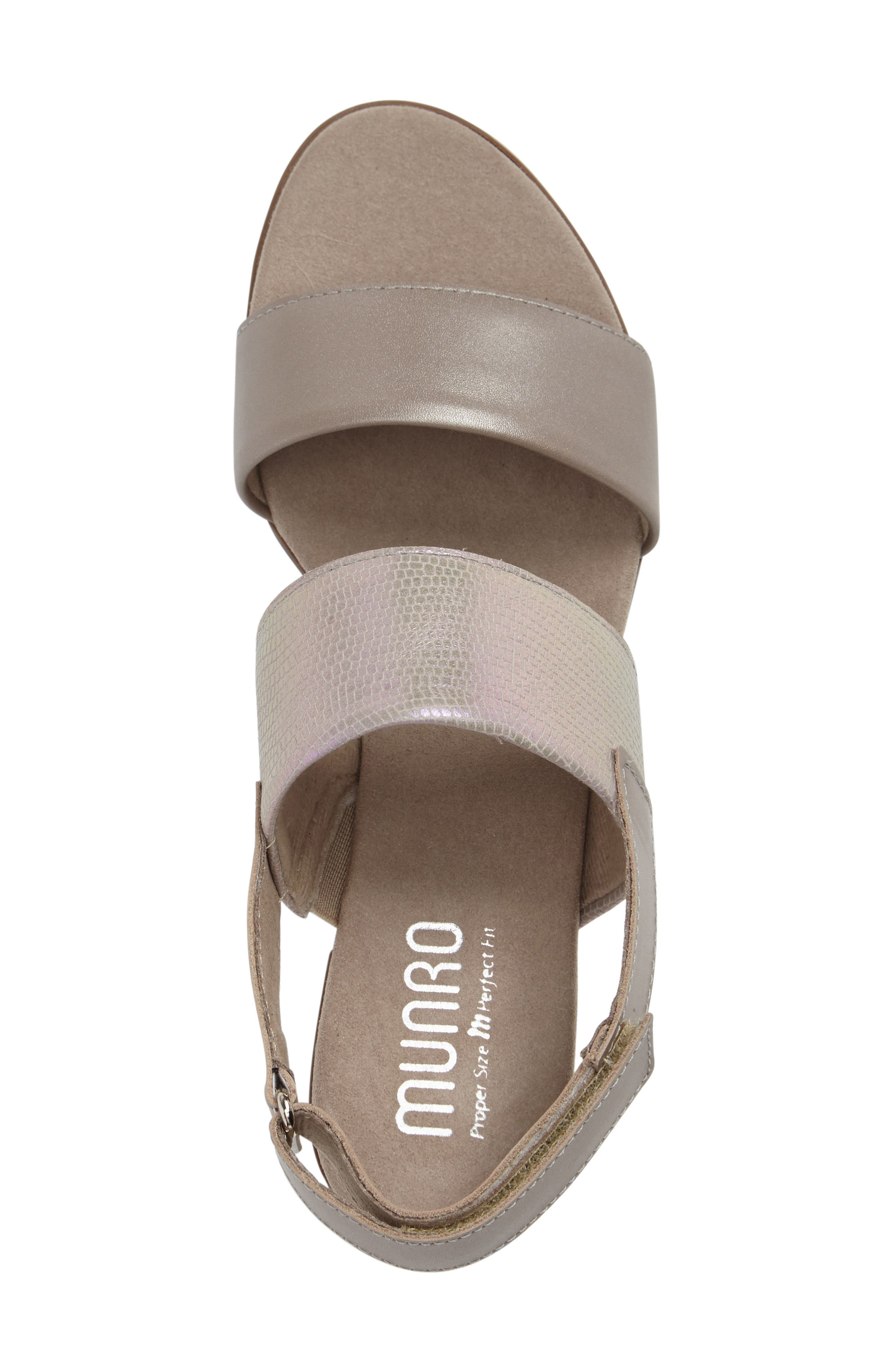 Kristal Sandal,                             Alternate thumbnail 3, color,                             Pearl Metallic Lizard Leather
