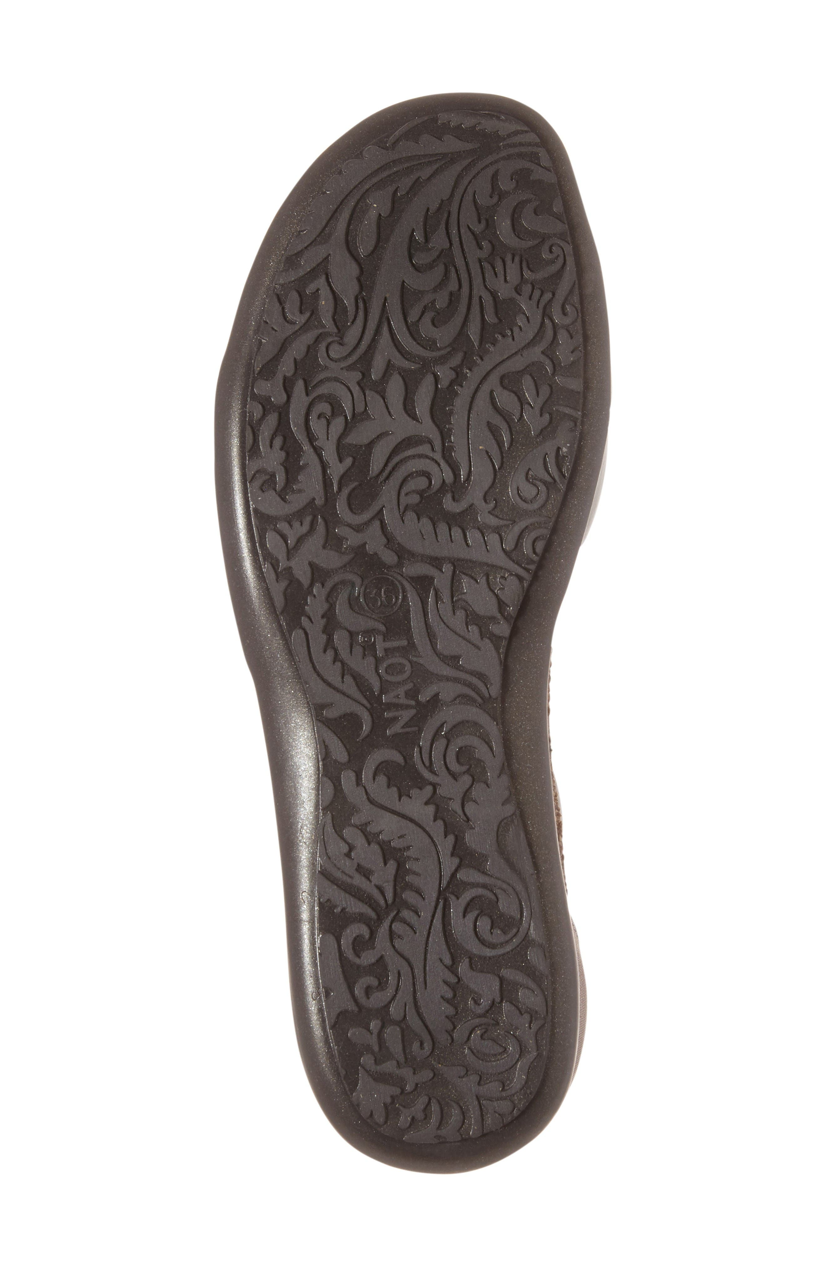 Nala Sandal,                             Alternate thumbnail 4, color,                             Grey/ Silver Nubuck Leather