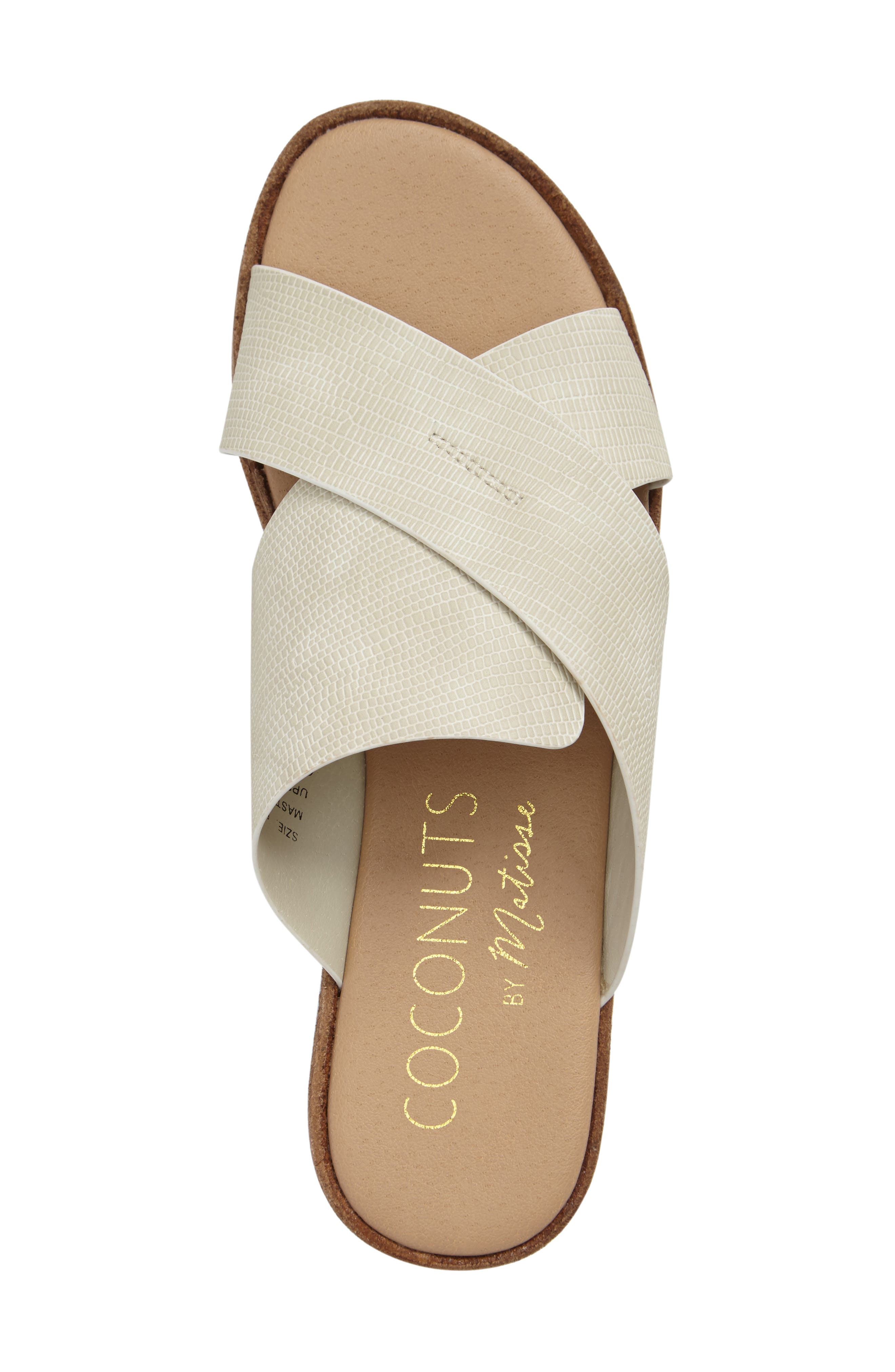 Coconuts by Matisse Masters Cross Strap Platform Sandal,                             Alternate thumbnail 3, color,                             White Leather