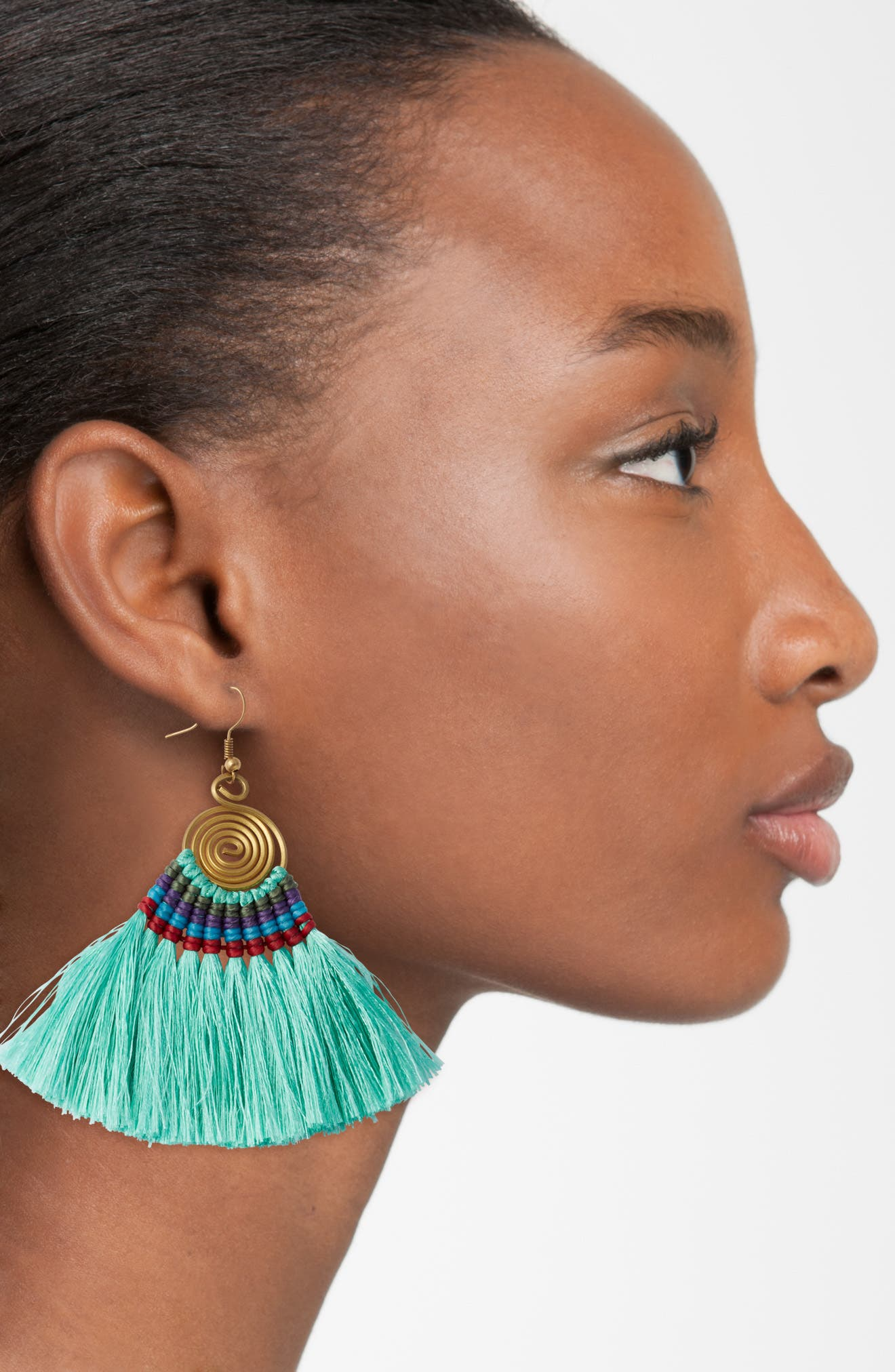 Alternate Image 2  - Panacea Tassel Statement Earrings