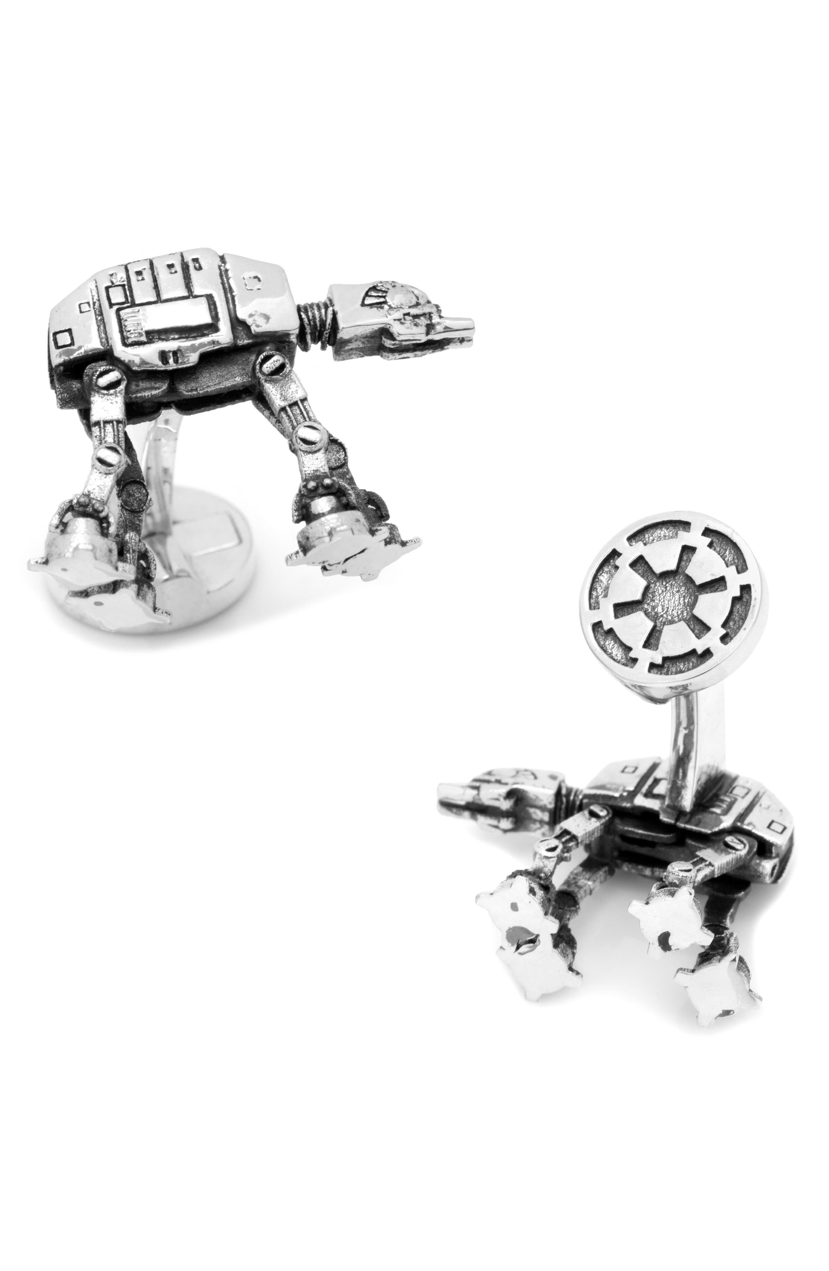 Star Wars<sup>™</sup> AT-AT Walker 3D Cuff Links,                         Main,                         color, Silver