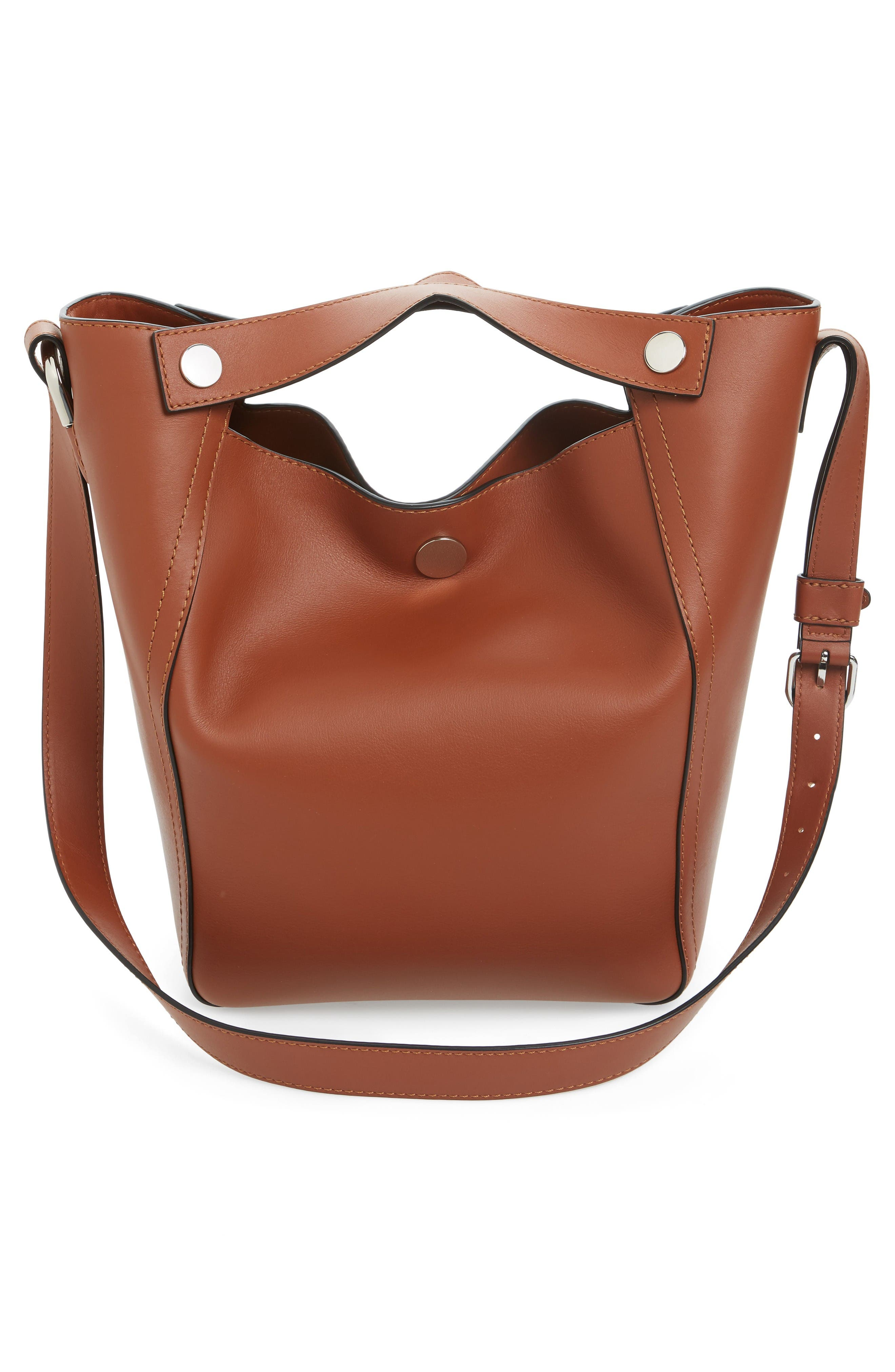 Large Dolly Leather Tote,                             Alternate thumbnail 3, color,                             Sequoia