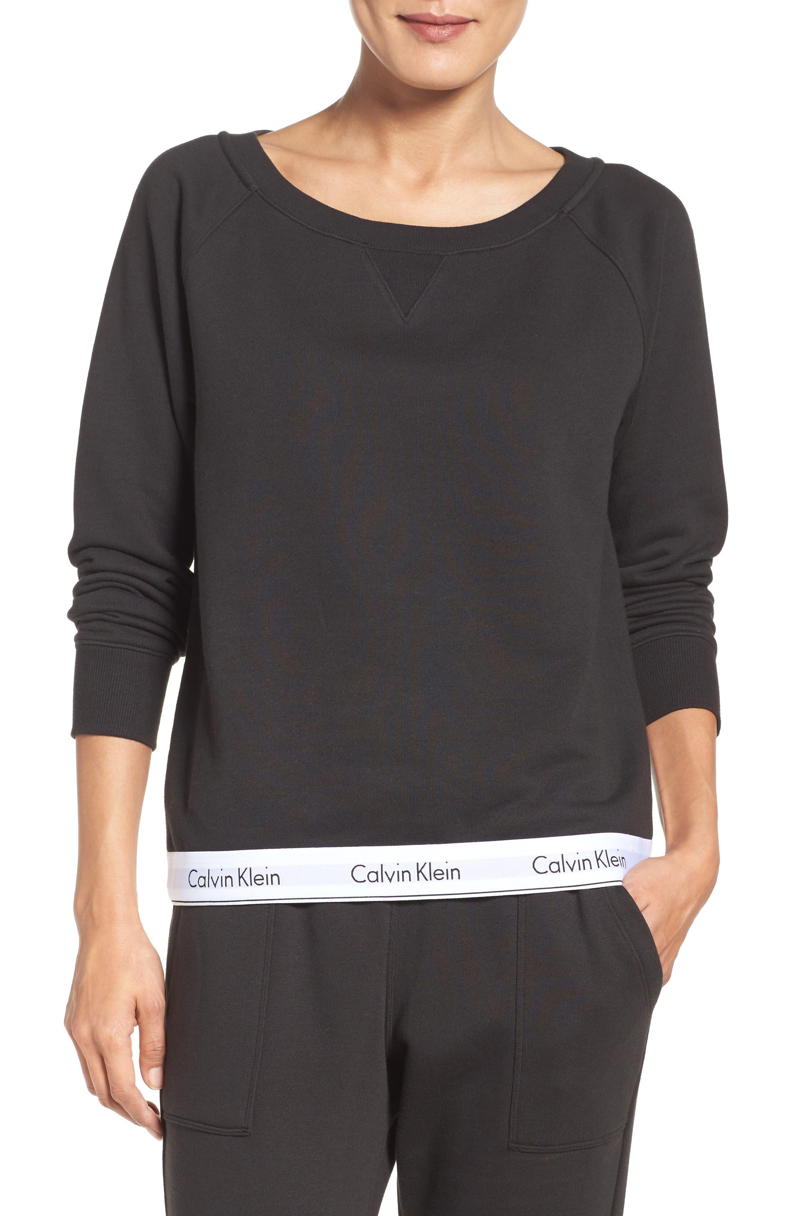 Lounge Sweatshirt,                         Main,                         color, Black