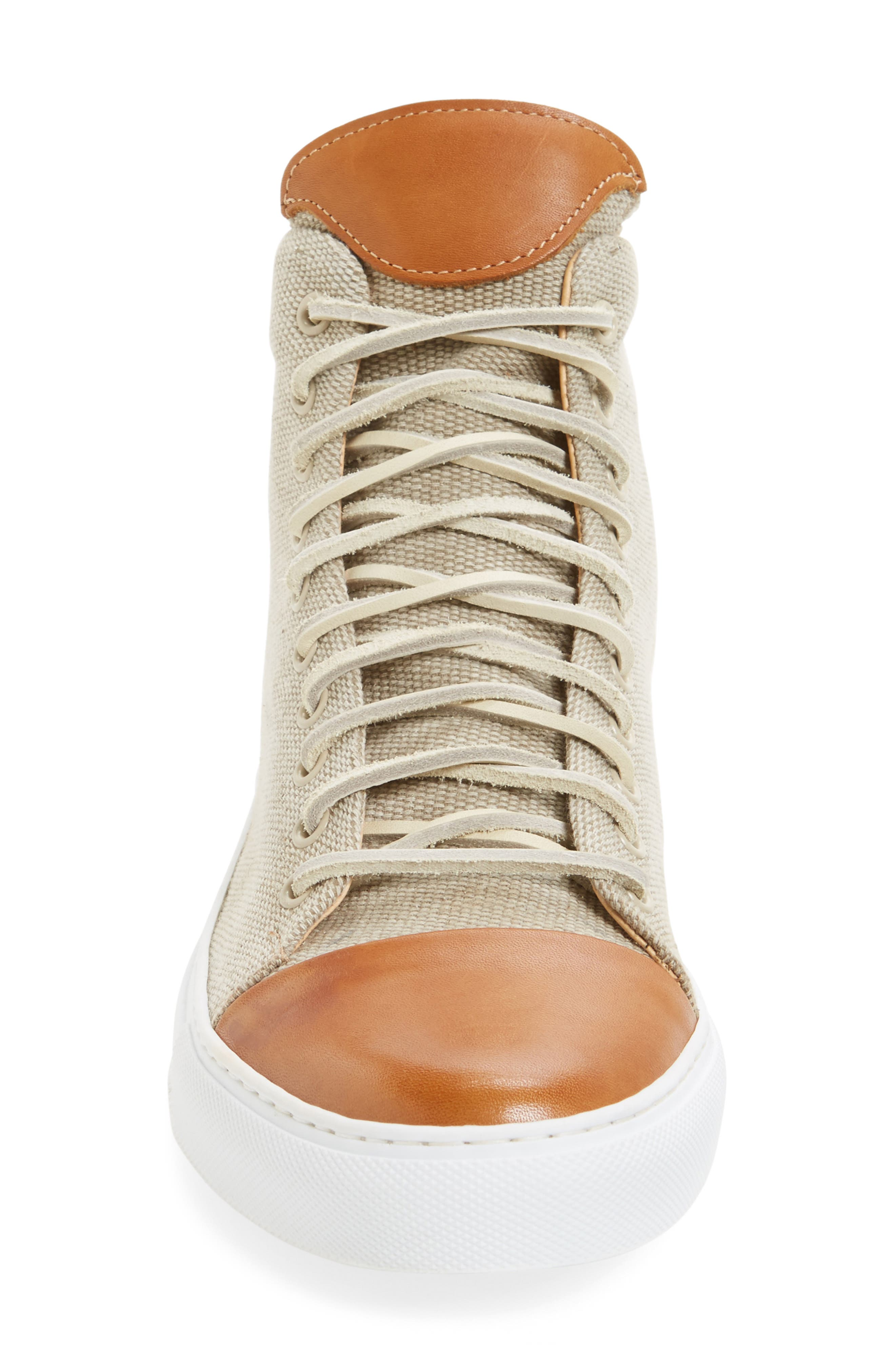 Good Sport High Top Sneaker,                             Alternate thumbnail 3, color,                             Sand Canvas