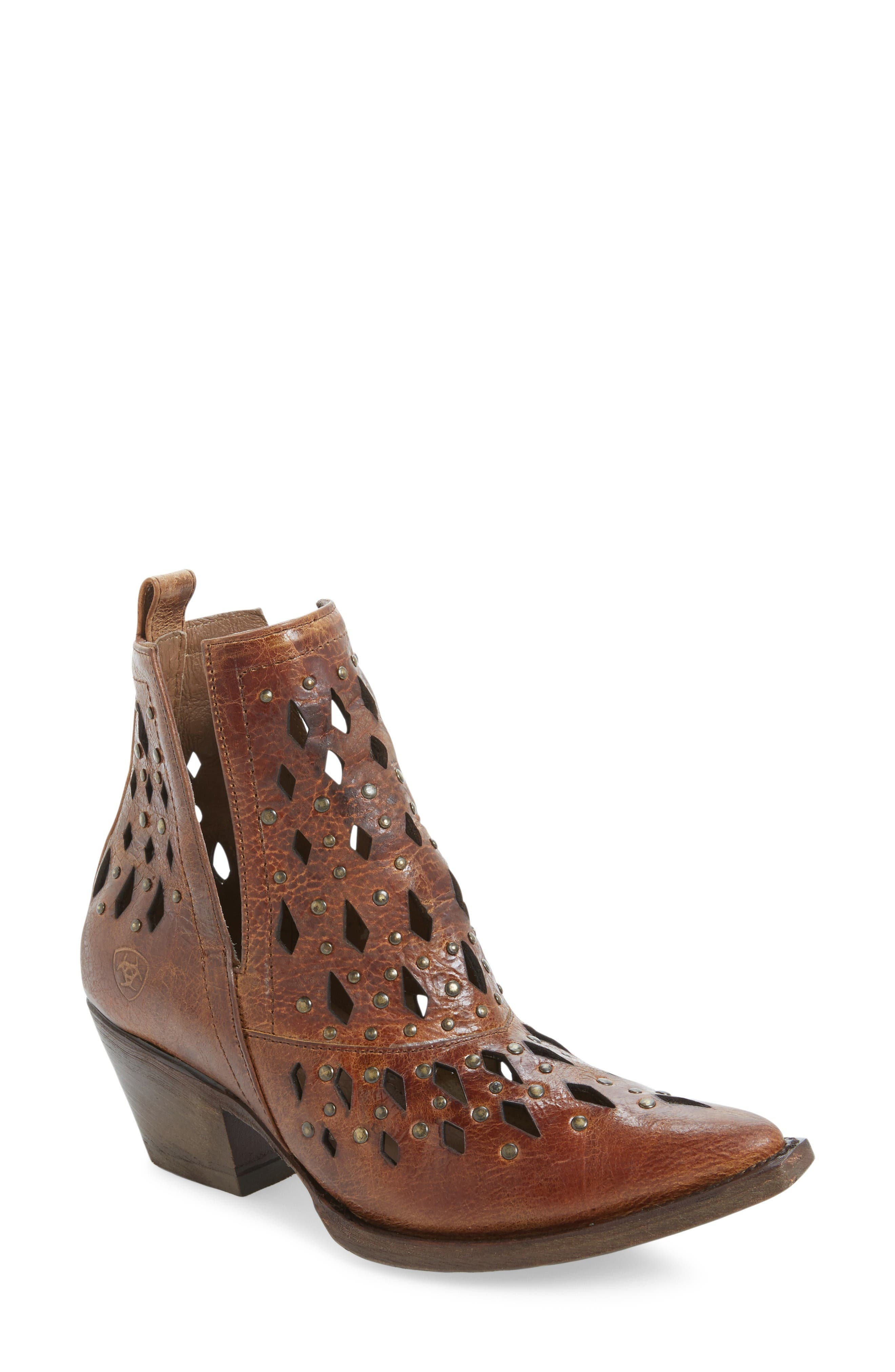 Alternate Image 1 Selected - Ariat Chiquita Studded Cutout Bootie (Women)