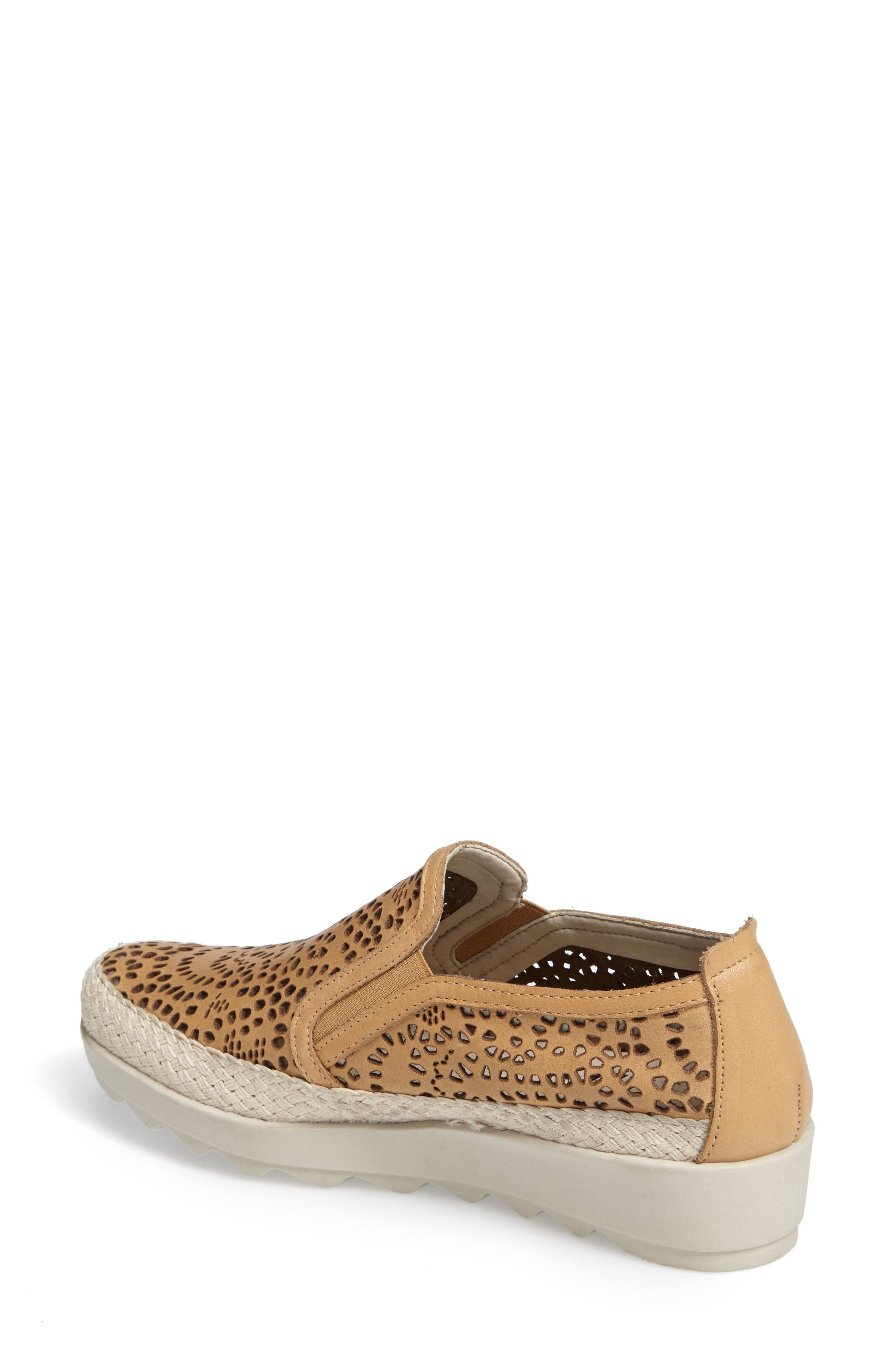 Call Me Perforated Slip-On Sneaker,                             Alternate thumbnail 2, color,                             Camel Leather