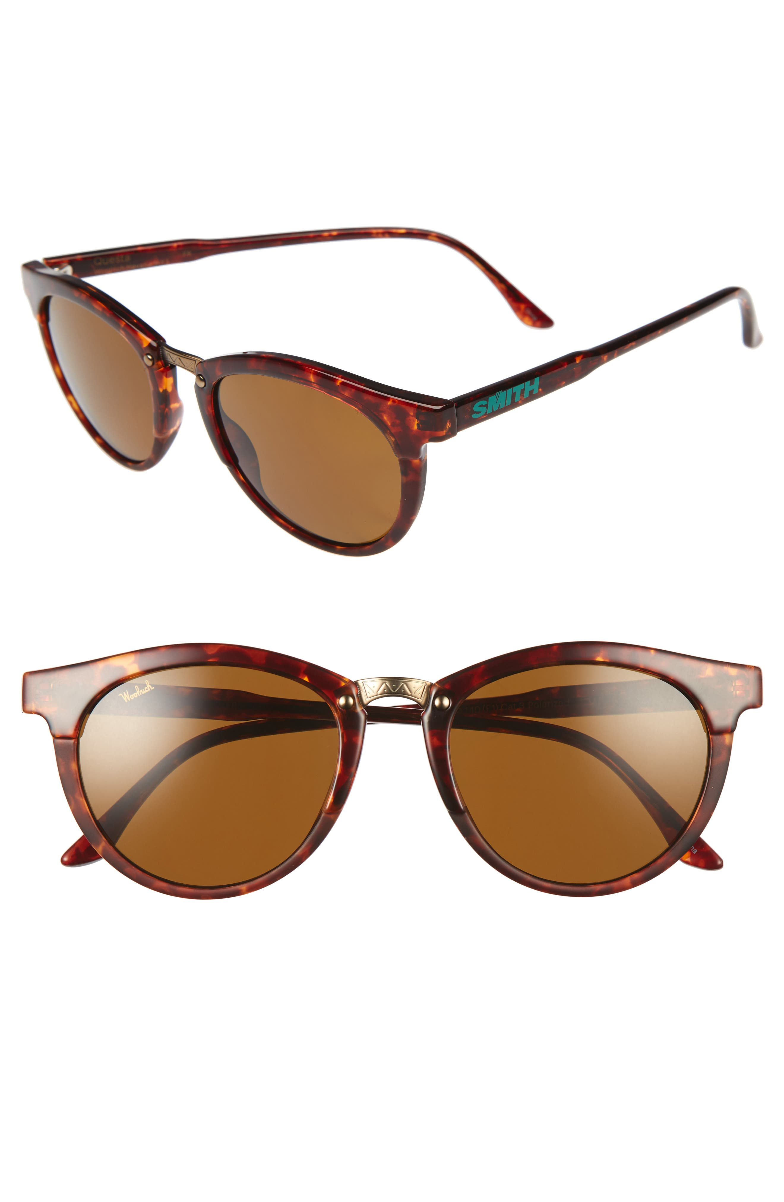 Questa 49mm Polarized Sunglasses,                         Main,                         color, Vintage Havana