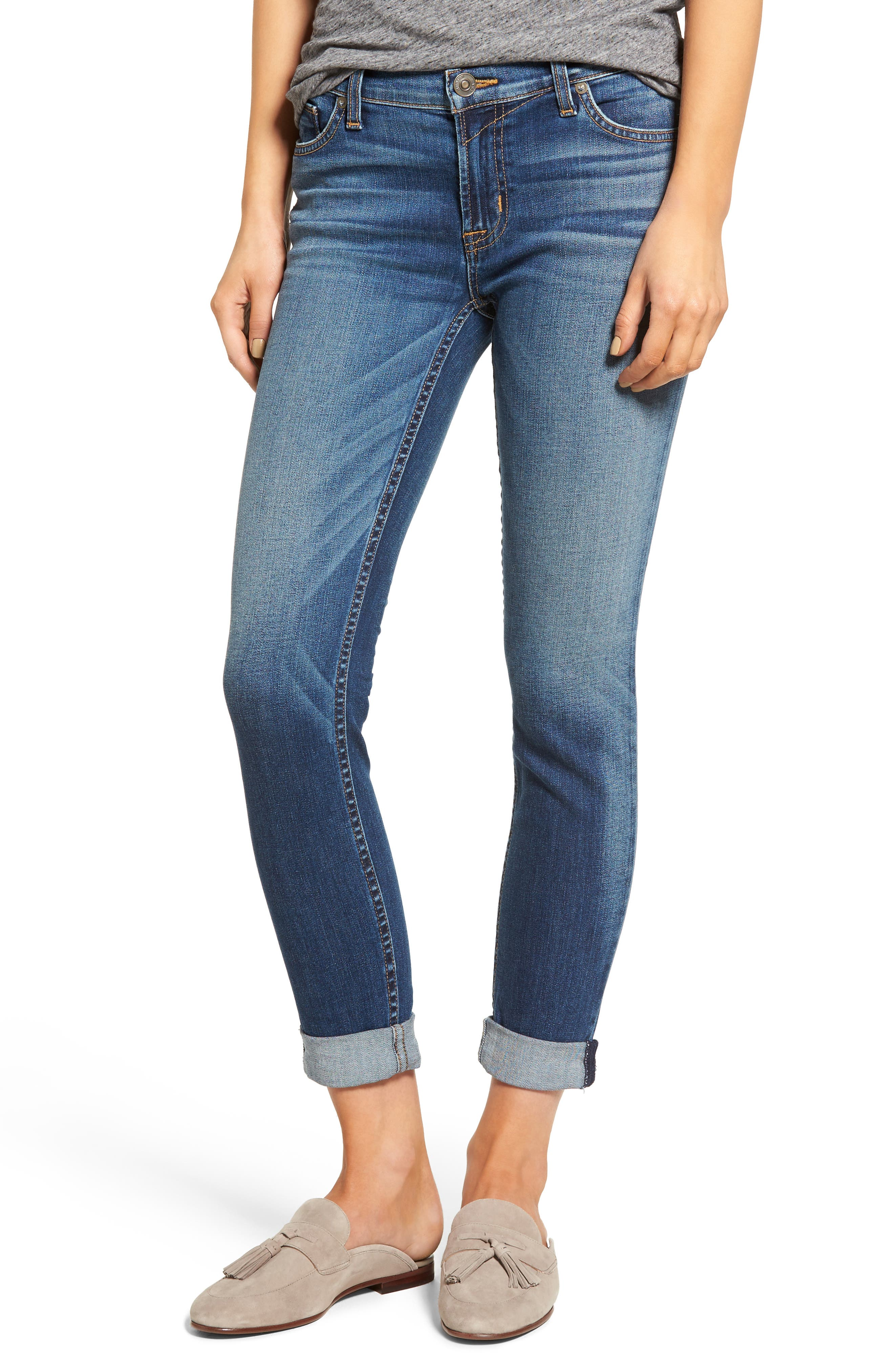 Tally Crop Skinny Jeans,                             Main thumbnail 1, color,                             Contender
