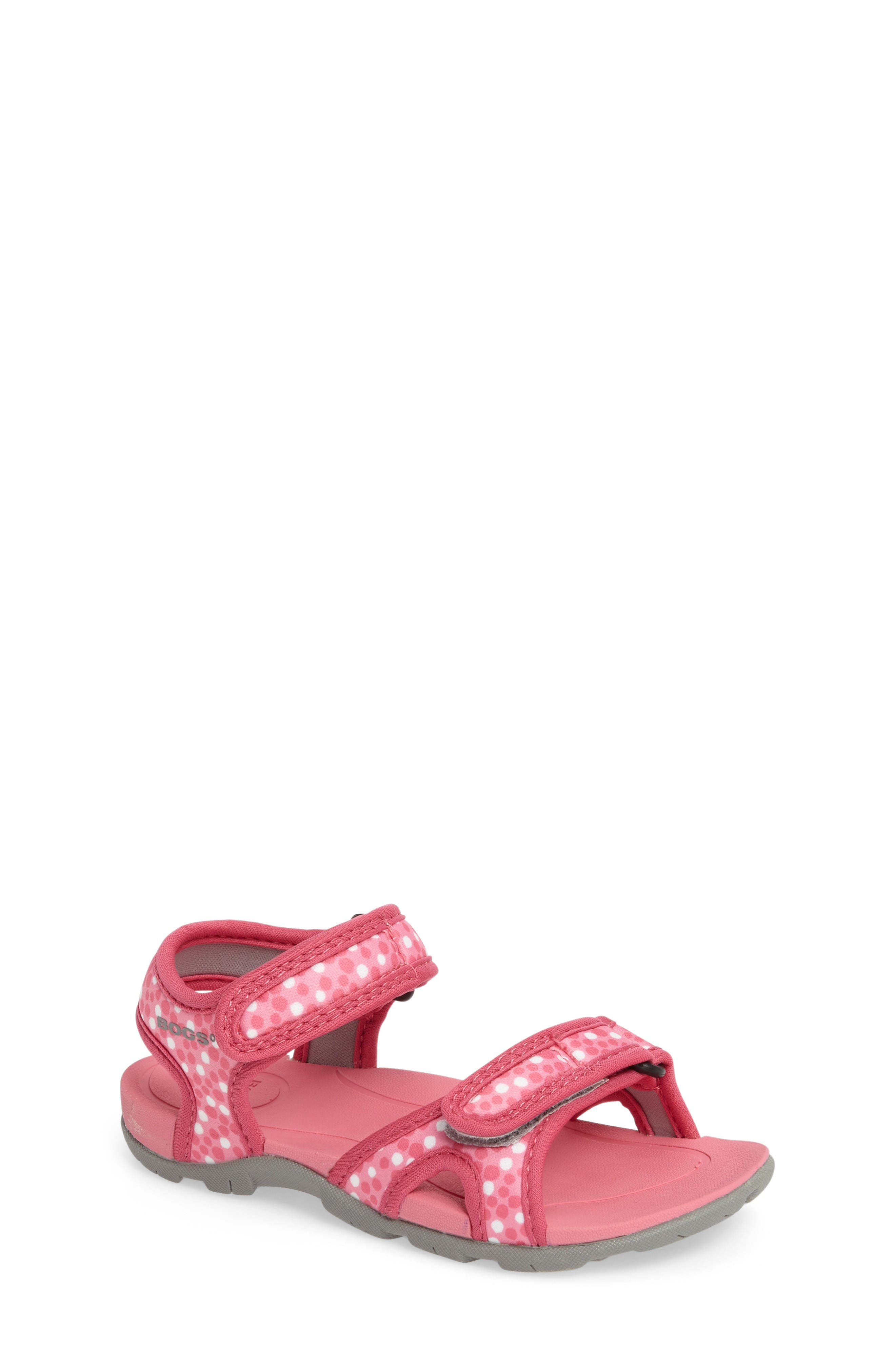 Bogs Whitefish Dots Water Friendly Sandal (Baby, Walker, Toddler & Little Kid)