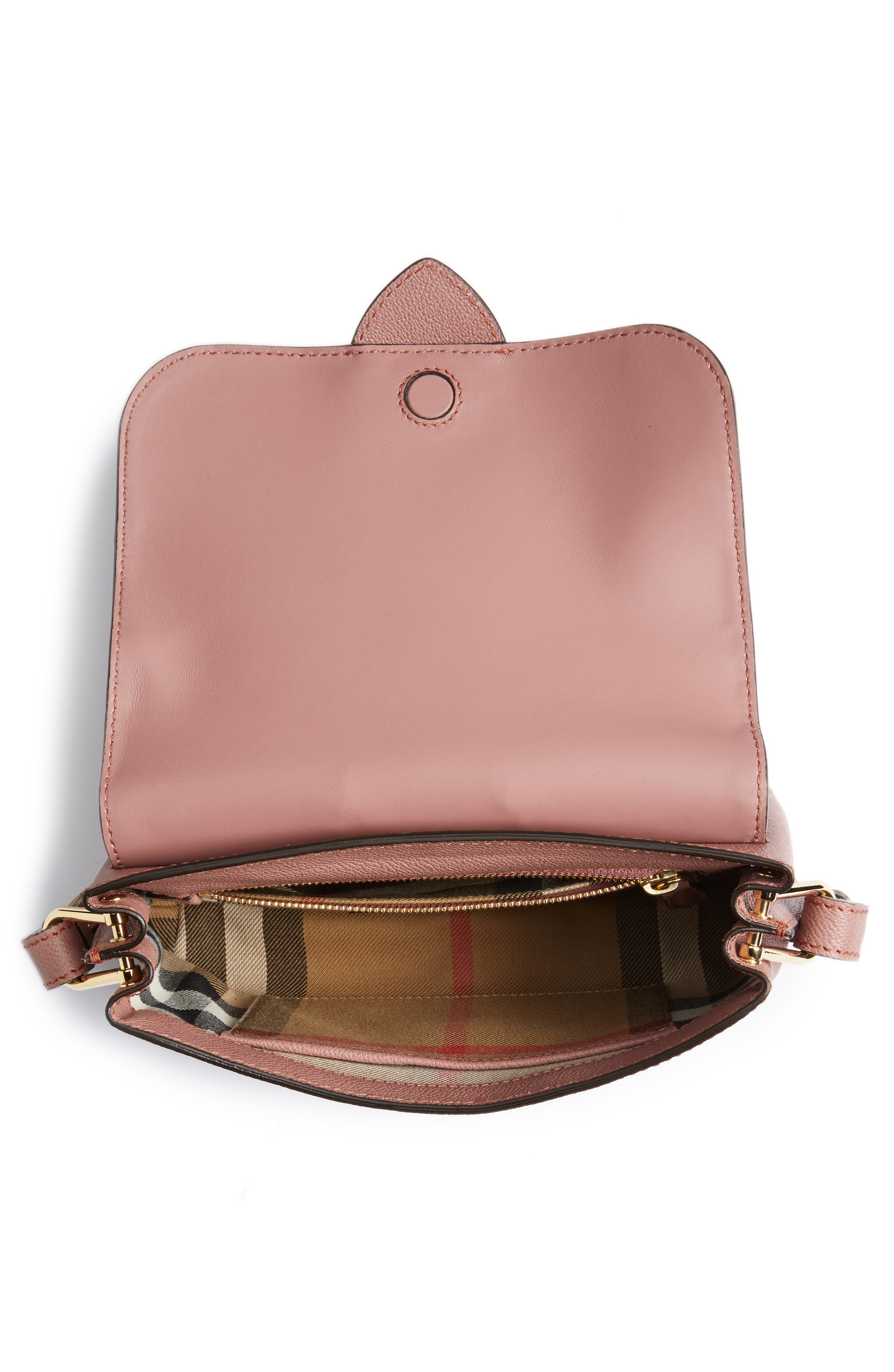 Small Medley Leather Shoulder Bag,                             Alternate thumbnail 4, color,                             Dusty Pink