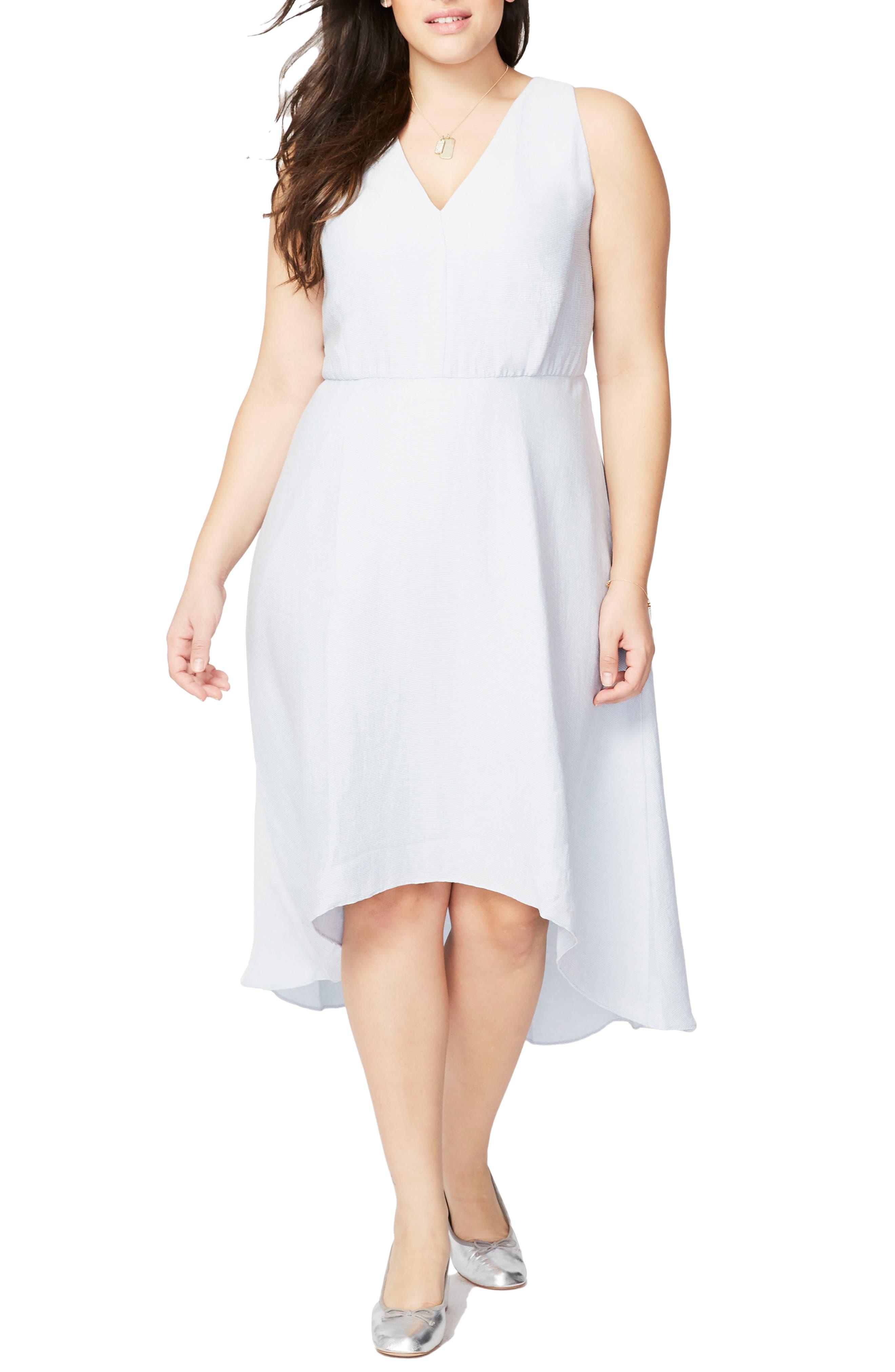 Flutter Drape Dress,                         Main,                         color, Light Sky