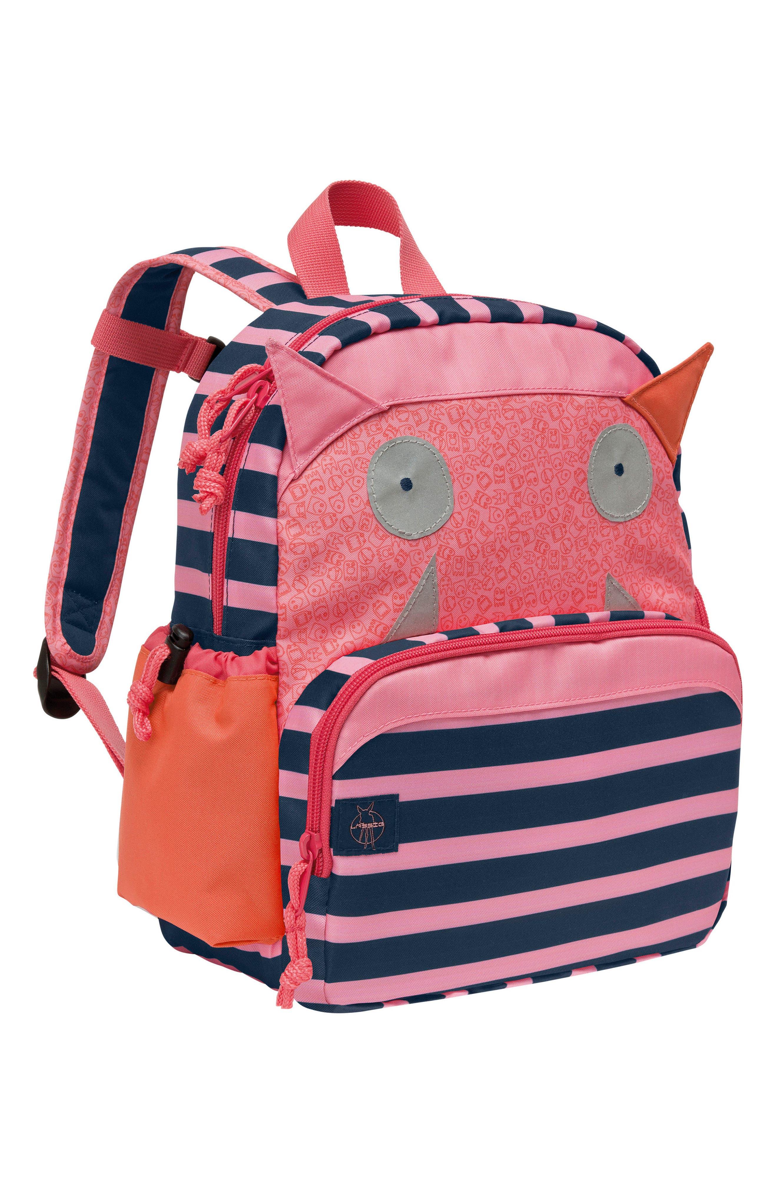 LÄSSIG Little Monster Glow in the Dark Mini Backpack