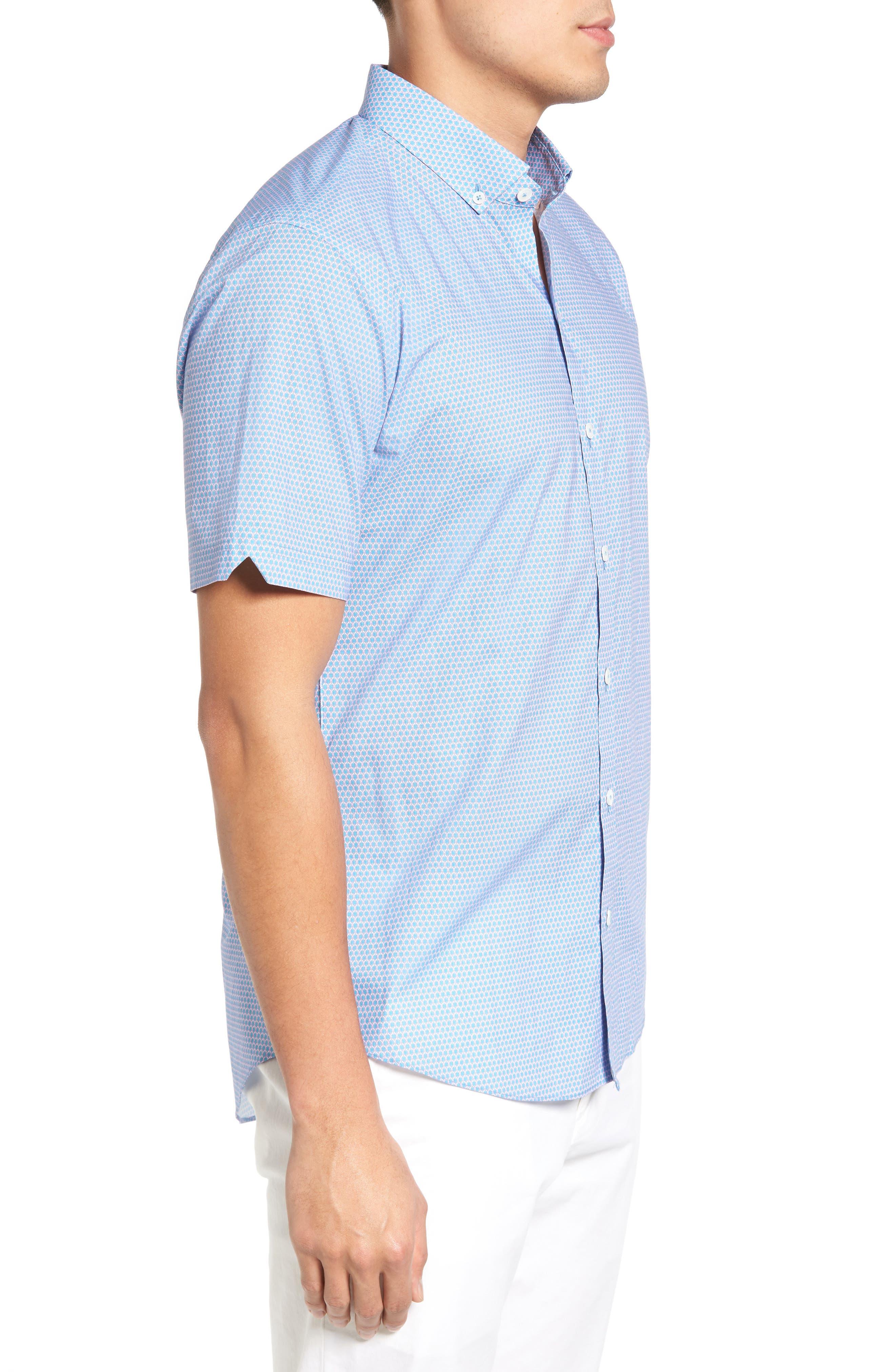Alternate Image 3  - Zachary Prell Parker Trim Fit Print Sport Shirt